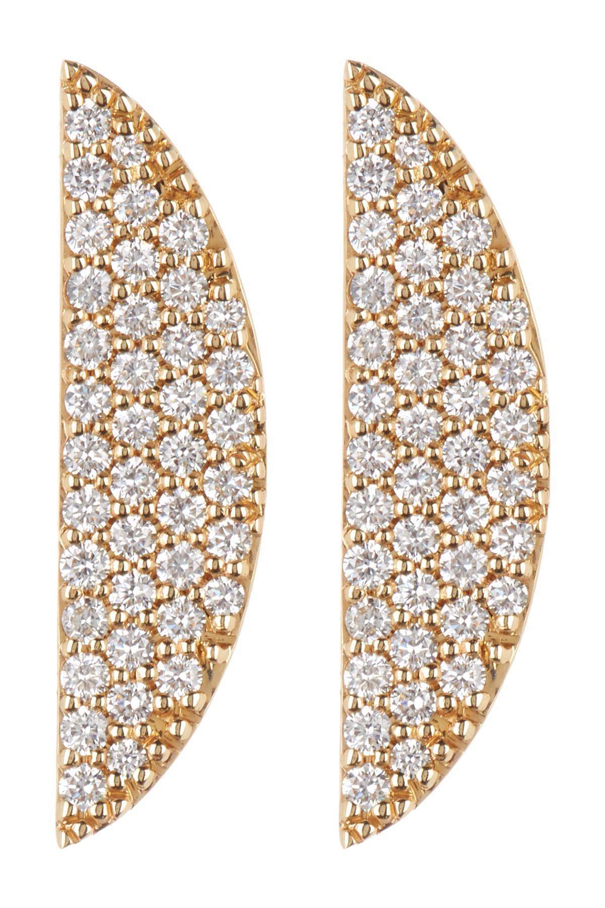 286eeb17a Lana Jewelry 14k Gold Flawless Eclipse Diamond Pave Earrings - 0.58 ...
