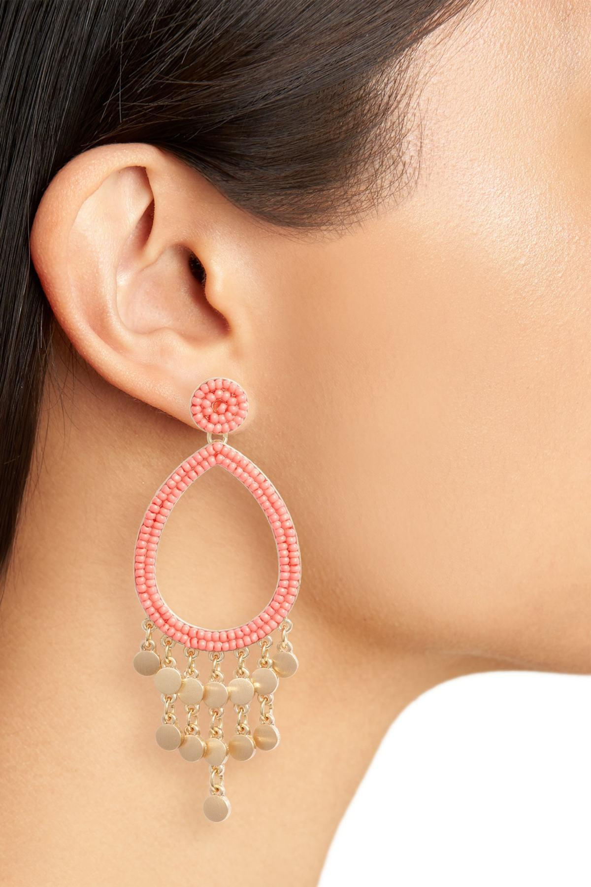 92e57216991bb Rebecca Minkoff Multicolor Riley Beaded Drop Earrings