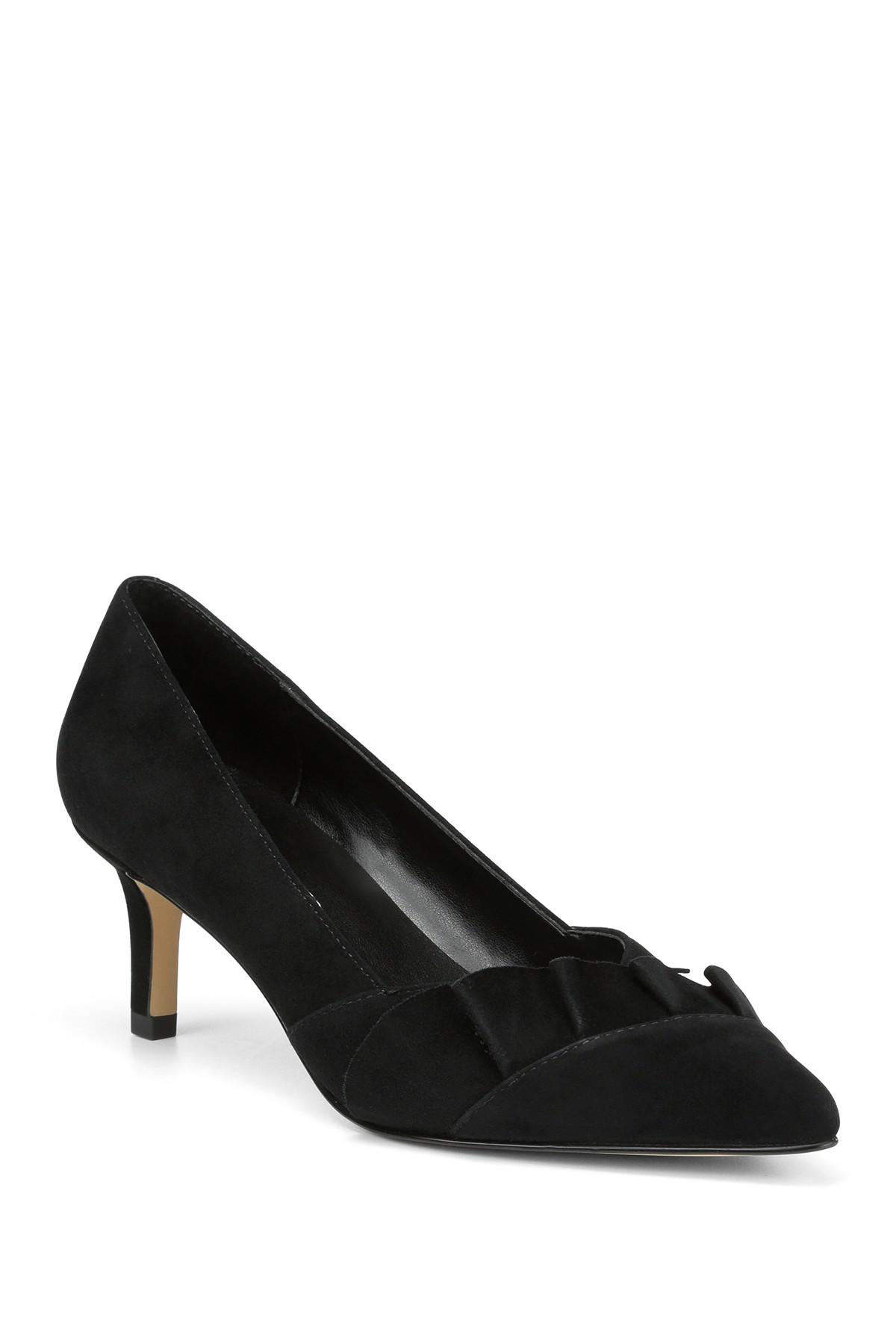 27c8936acd Lyst - Donald J Pliner Fayer Kitten Heel Pump in Black