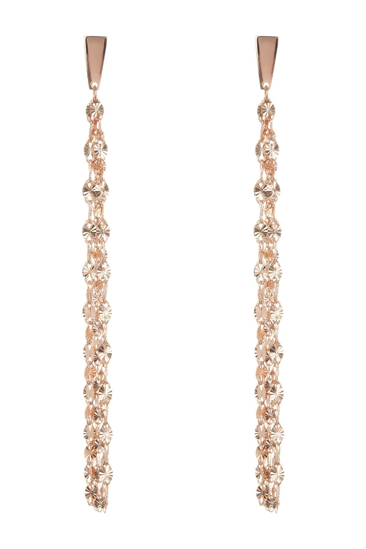 Lyst Lana Jewelry 14k Rose Gold Fringe Earrings in Metallic