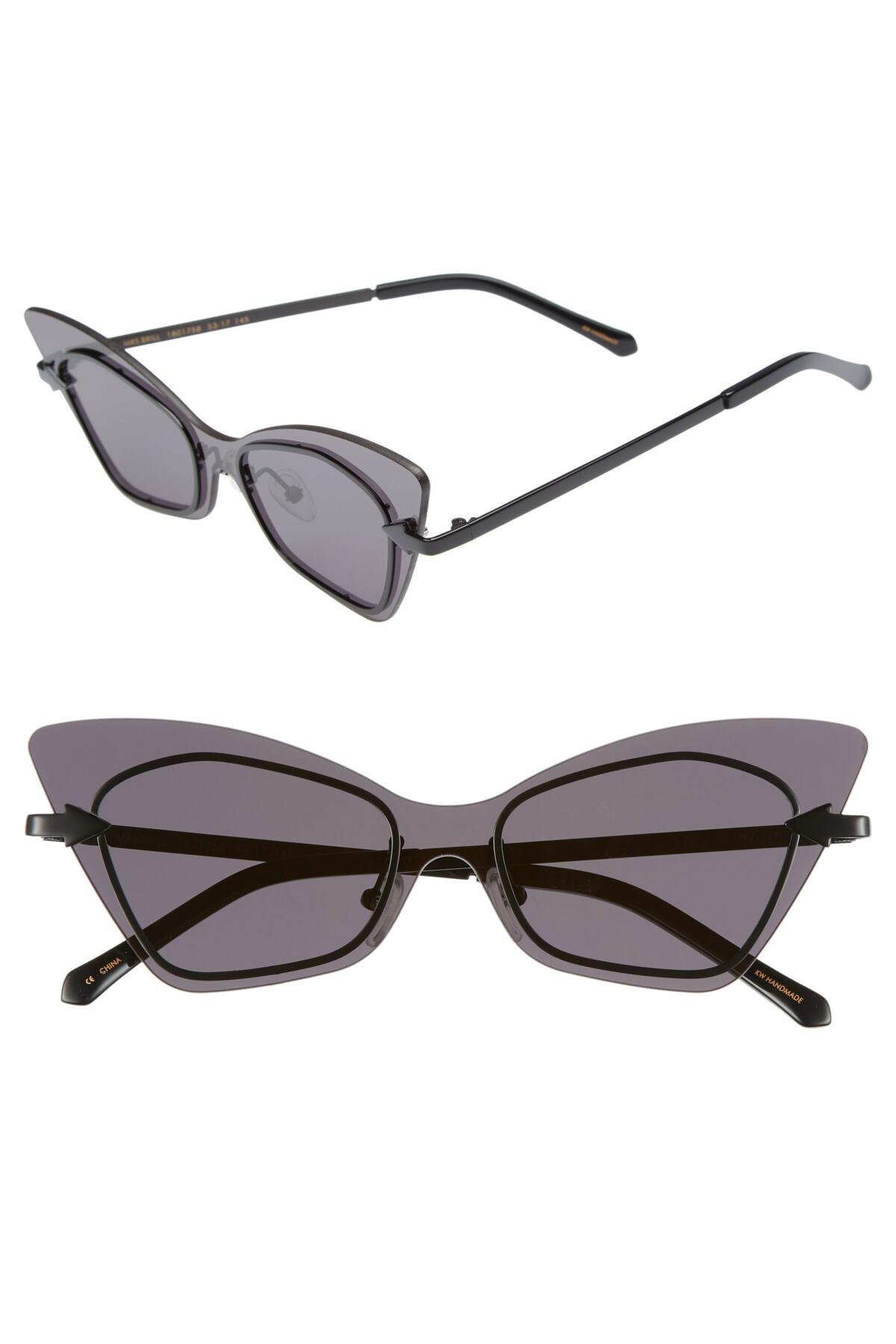 cba74b0ee8a0 Lyst - Karen Walker Mrs. Brill 53mm Cat Eye Sunglasses in Black
