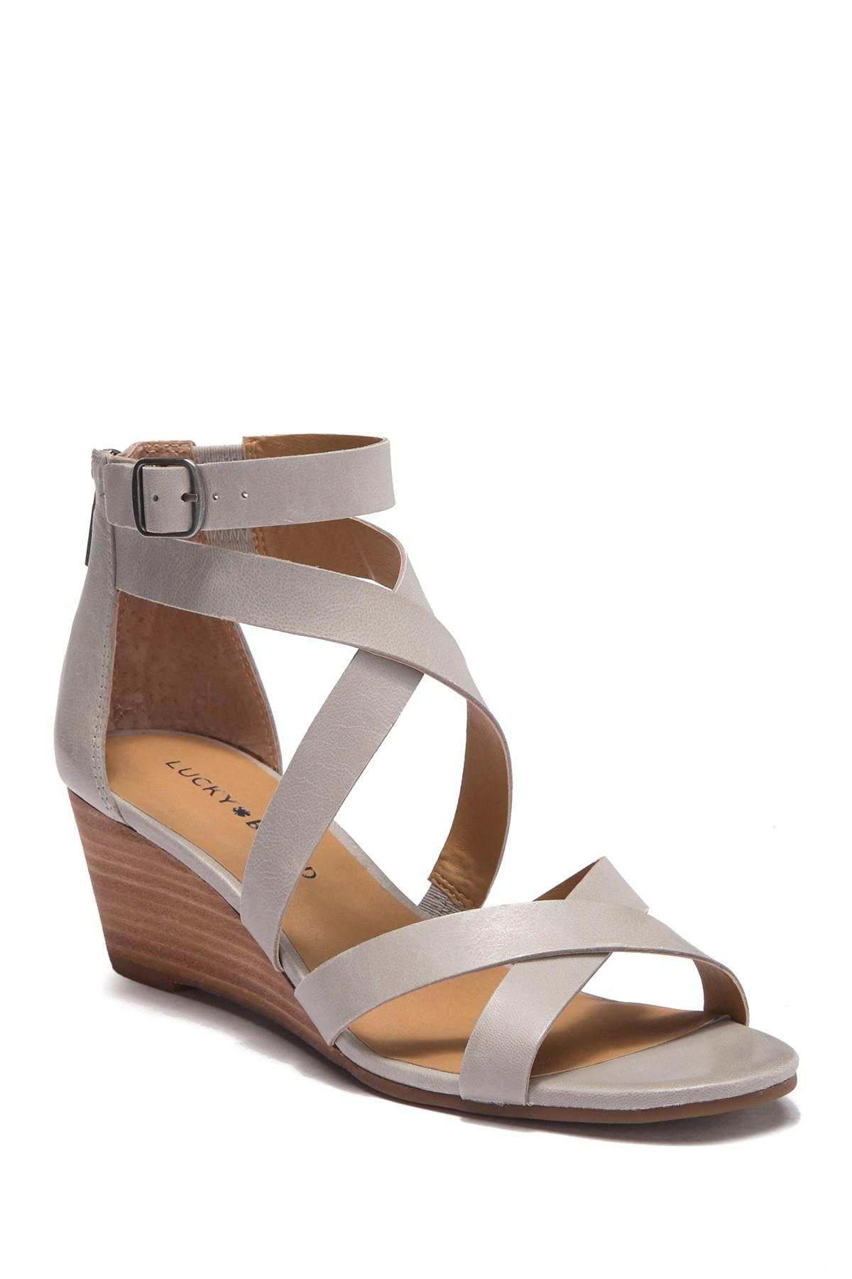 1a30a70df41 Lucky Brand - Gray Jinela Wedge Sandal - Lyst. View fullscreen