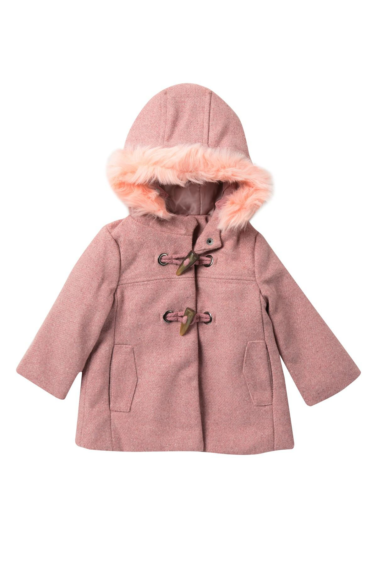 7a67e99934e9 Lyst - Jessica Simpson Faux Fur Trimmed Wool Toggle Coat (baby Girls ...