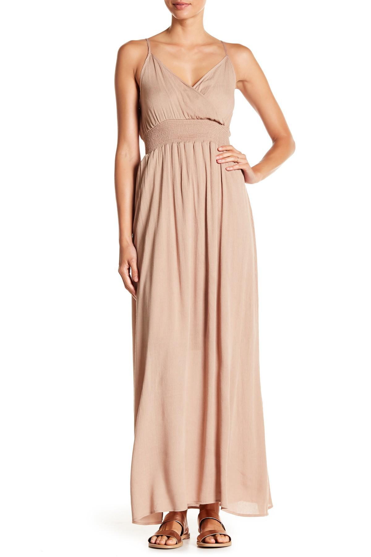 3f6058660f2 Lyst - West Kei Gauze Maxi Dress in Pink