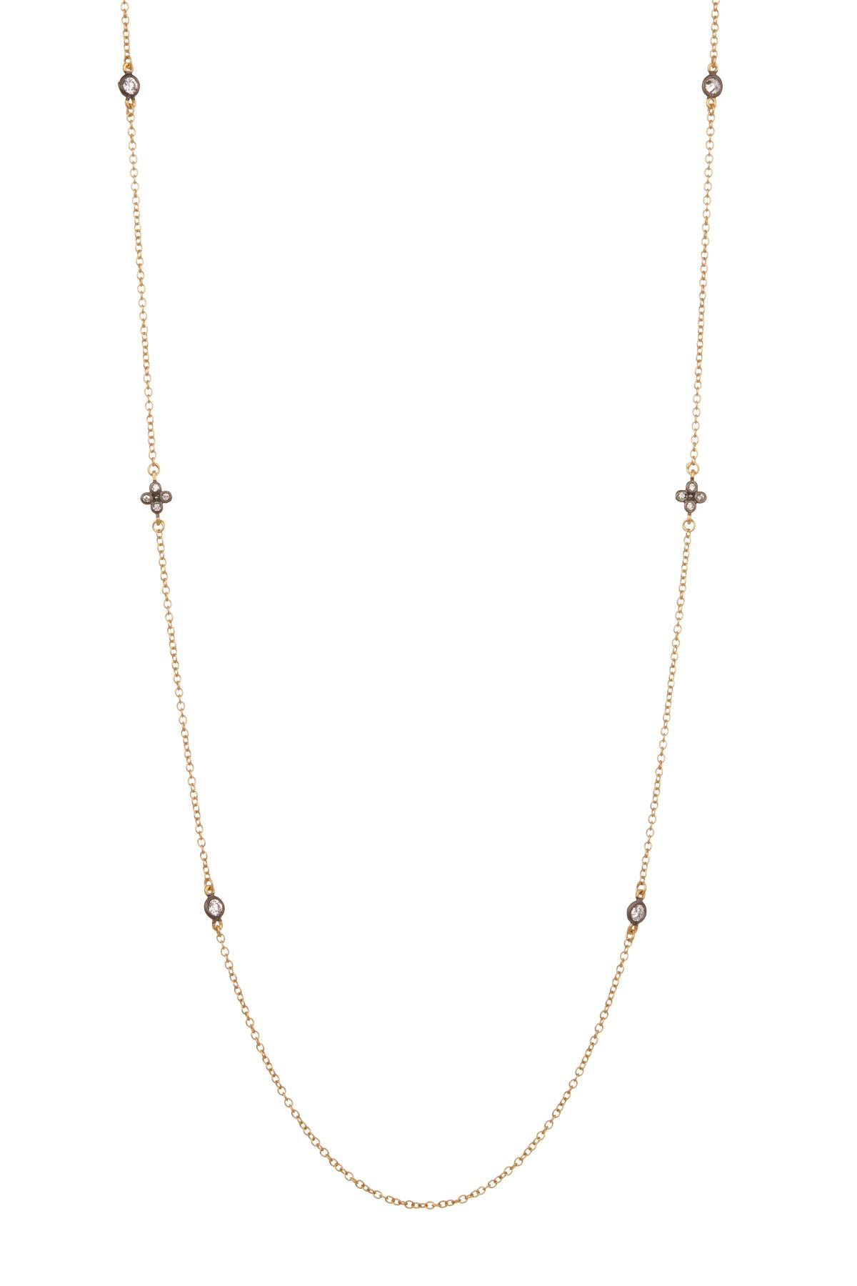 Freida Rothman Double-Row Pave Crystal Clover Station Choker Necklace Zj42yGCrw1