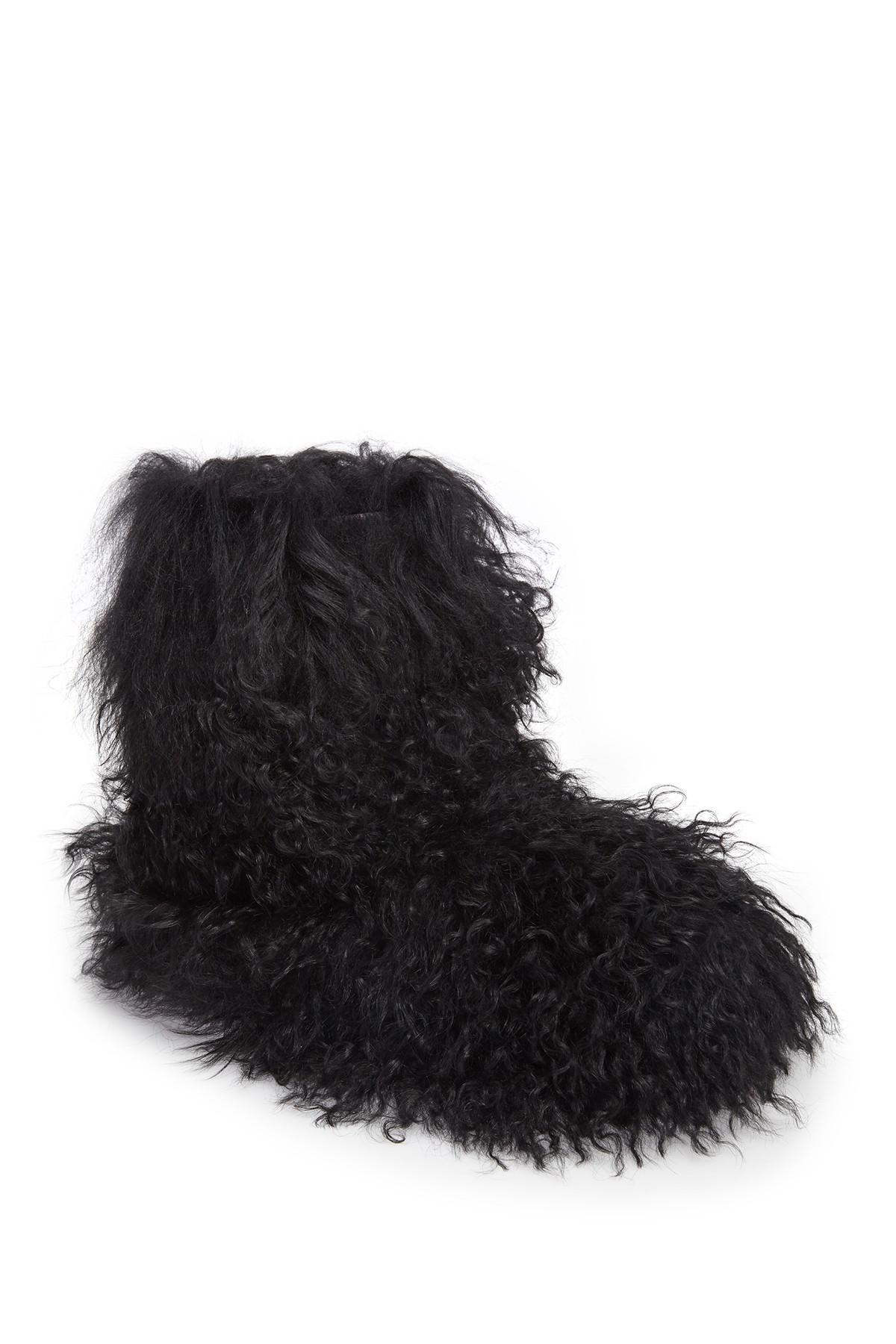 27eb3fd3595 Ugg Black Fluff Momma Mongolian Genuine Sheepskin Boot