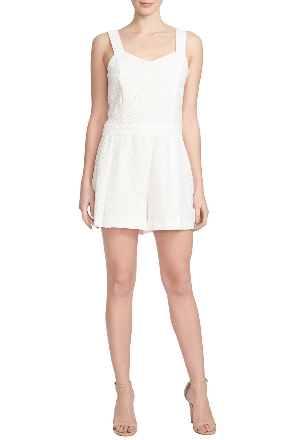 c42342bbe98 Lyst - 1.STATE Eyelet Romper in White