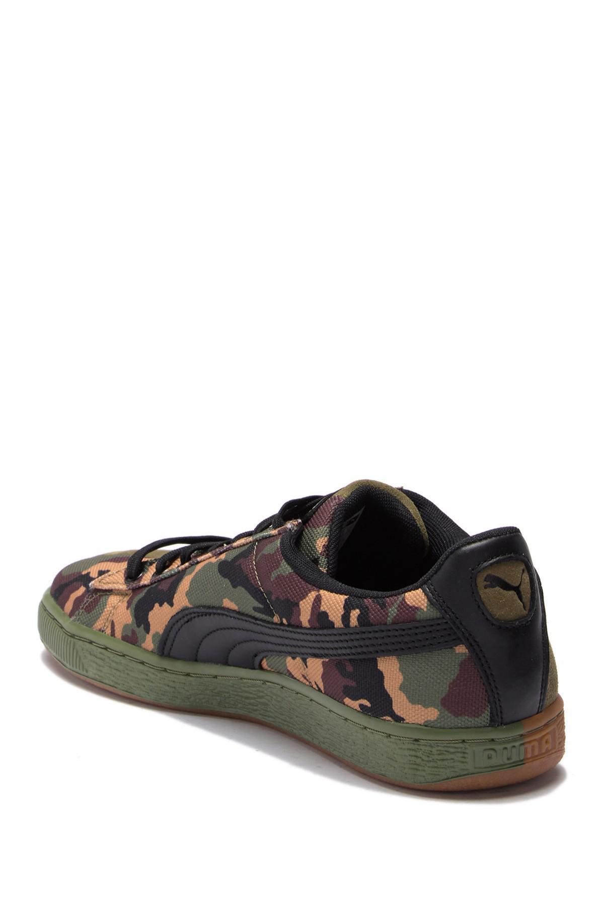 PUMA Men's Suede Sp Low-top Camo Sneakers in Green for Men - Lyst