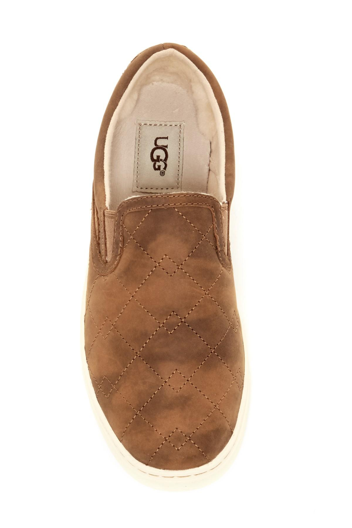 c1243340990 Ugg Brown Fierce Deco Quilted Pure(tm) Lined Slip-on Sneaker