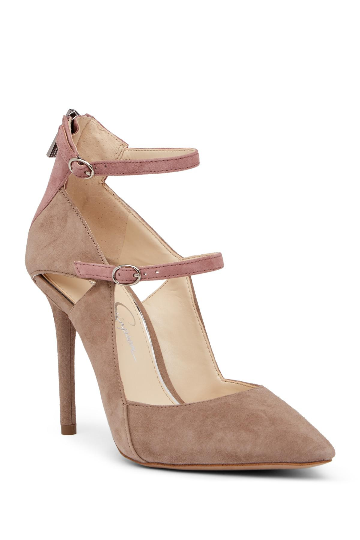 118e11a668a Jessica Simpson Liviana Pointed Toe Suede Pump - Lyst