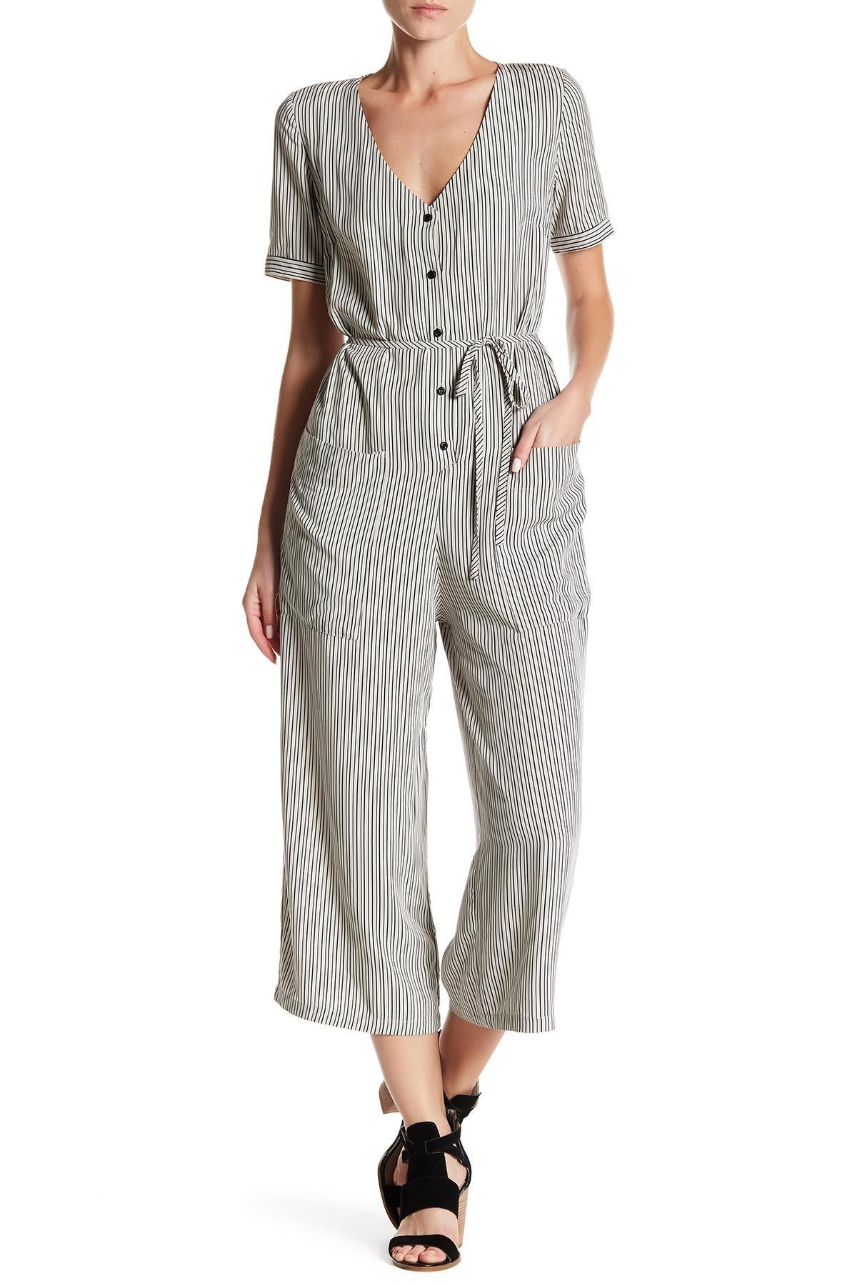 58a9f5180019 Lyst - Dress Forum Crop Leg Jumpsuit