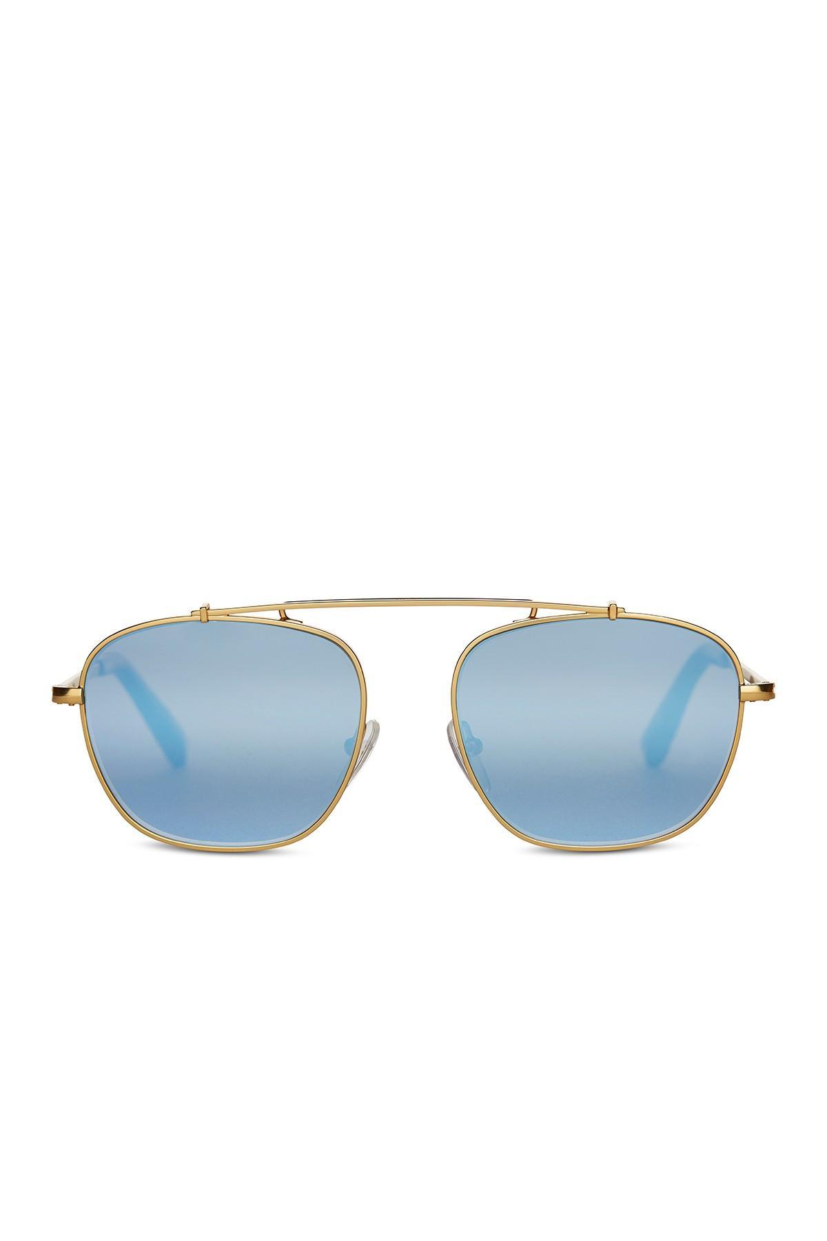 1b5157bfc36b TOMS - Metallic Riley 53mm Aviator Sunglasses - Lyst. View fullscreen