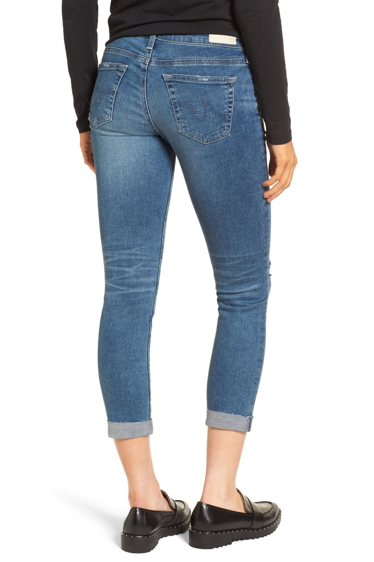 distressed cropped jeans - Blue AG - Adriano Goldschmied suifBE1R92