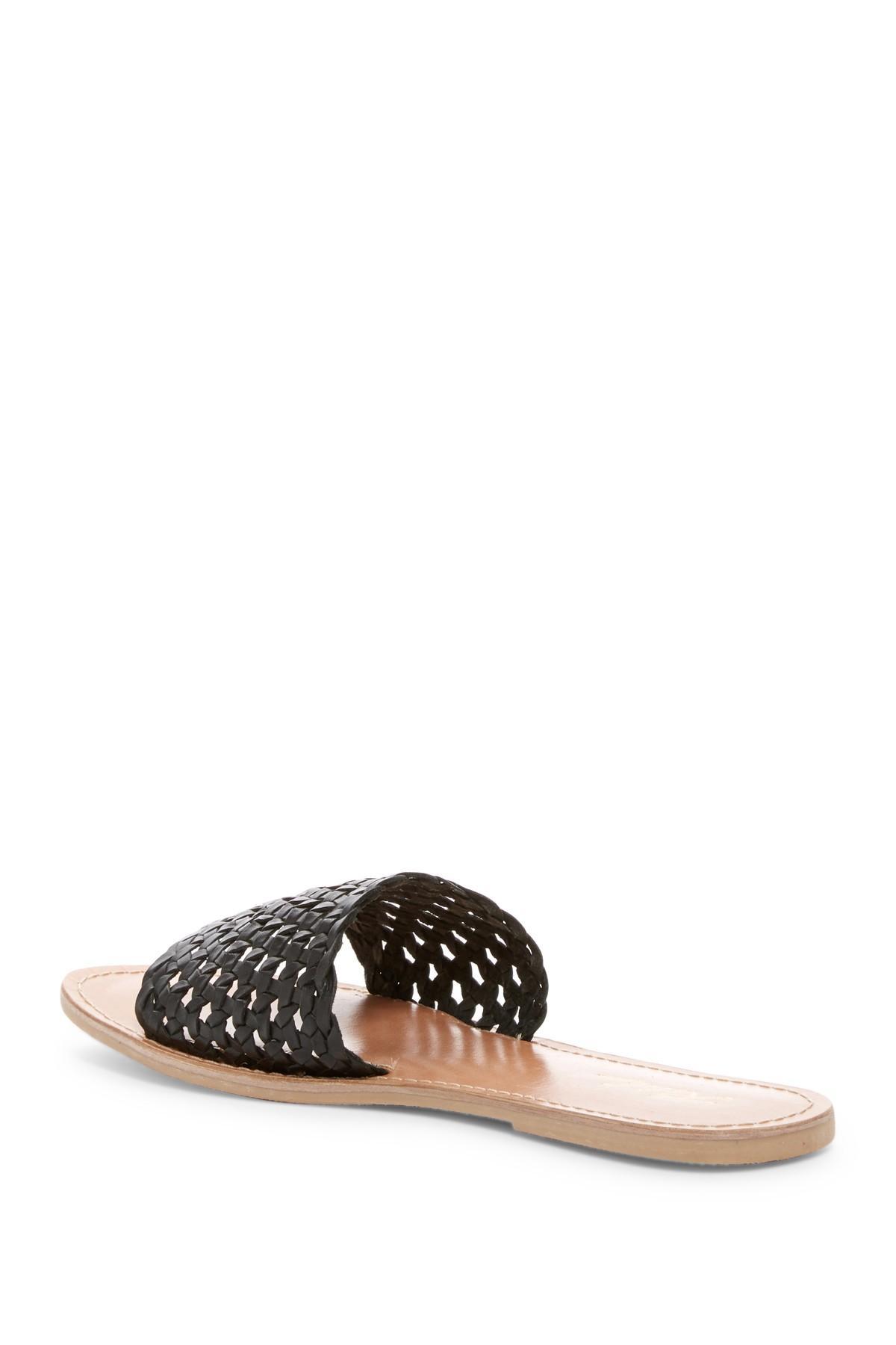 de927ebf7007 Rebels - Black Bettina Leather Lattice Slide Sandal - Lyst. View fullscreen