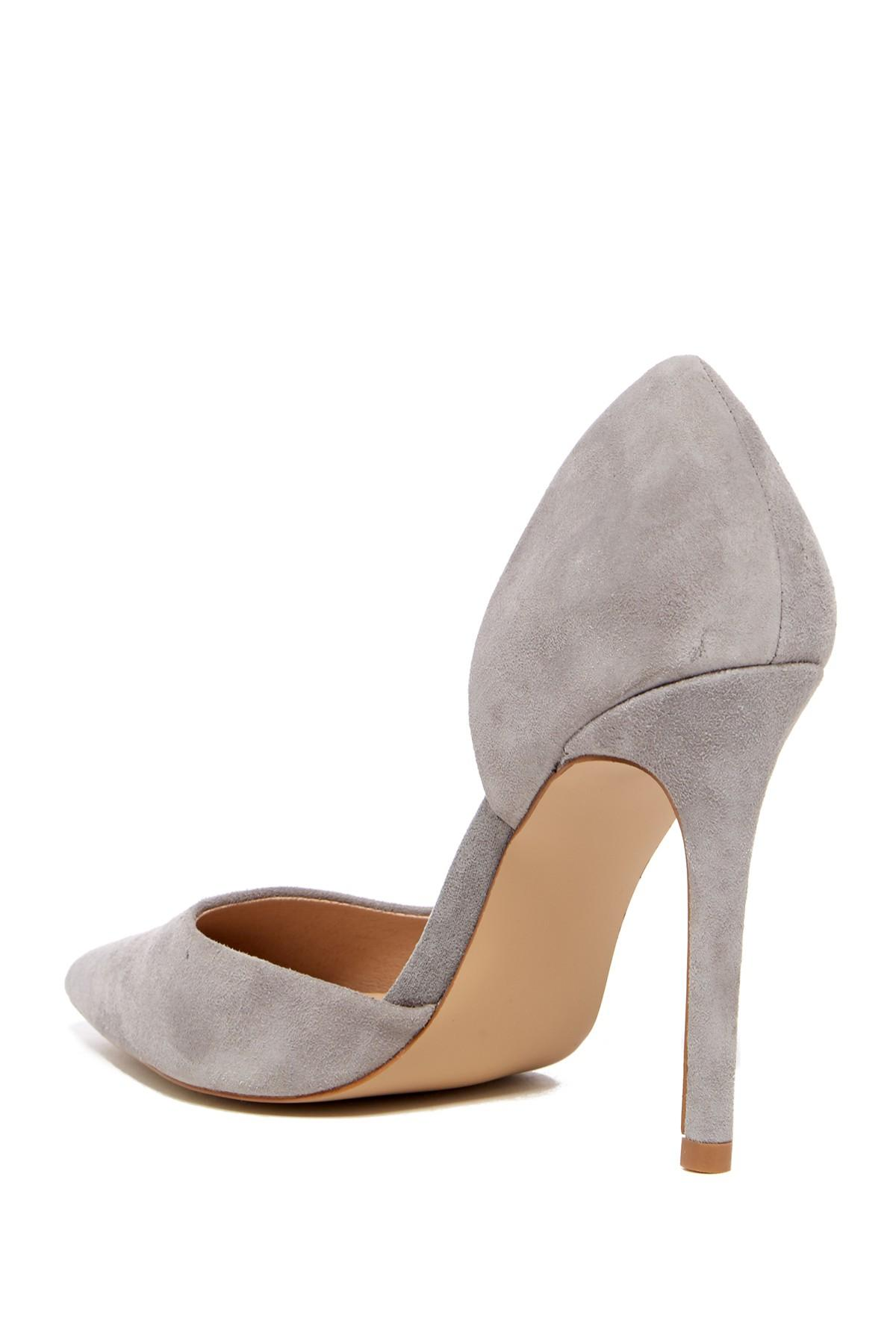 0103292feeb Lyst - Steve Madden Felicity Suede D orsay Pump in Gray