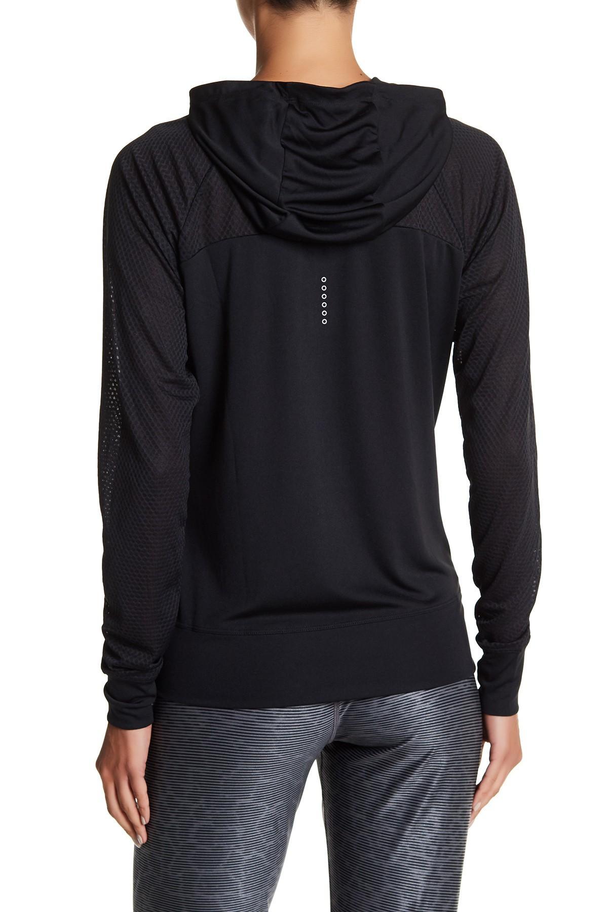 Lyst Nike Hooded Long Sleeve Lightweight Jacket In Black
