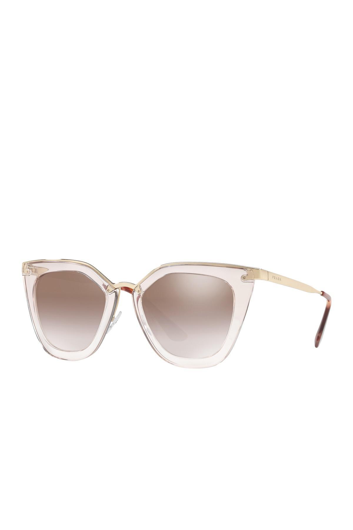 4d6223b45a4f Lyst - Prada 52mm Retro Sunglasses