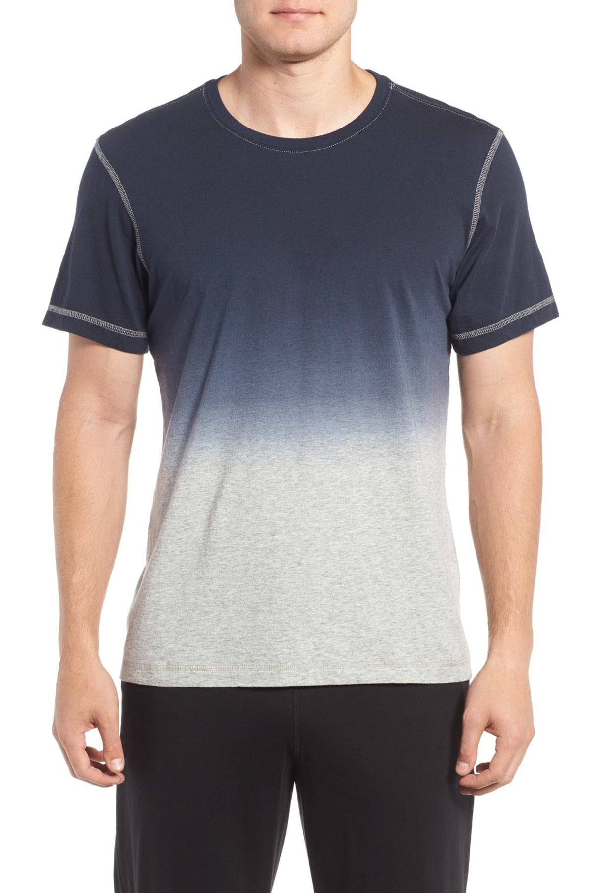 Lyst daniel buchler ombre peruvian pima cotton t shirt for Peruvian cotton t shirts