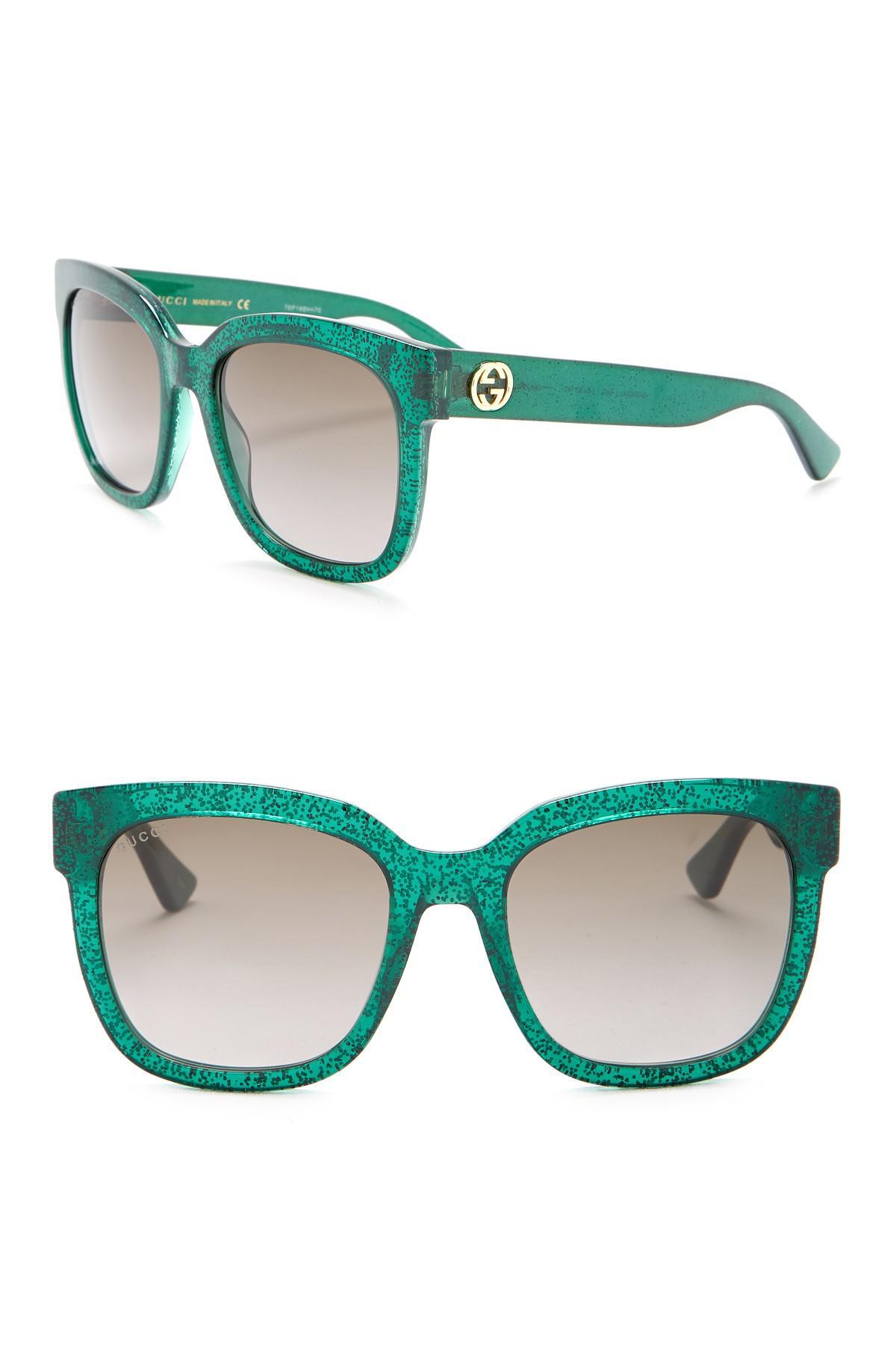 1dd911b6e97 Gucci - Green Glitter 54mm Sunglasses - Lyst. View fullscreen