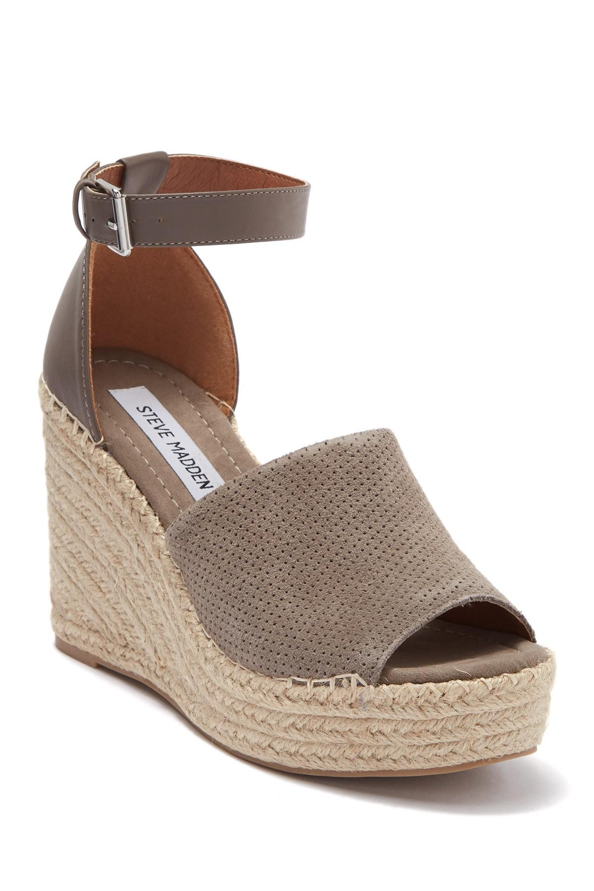 c2c16a9de30 Women's Brown Josey Platform Wedge Espadrille Sandal