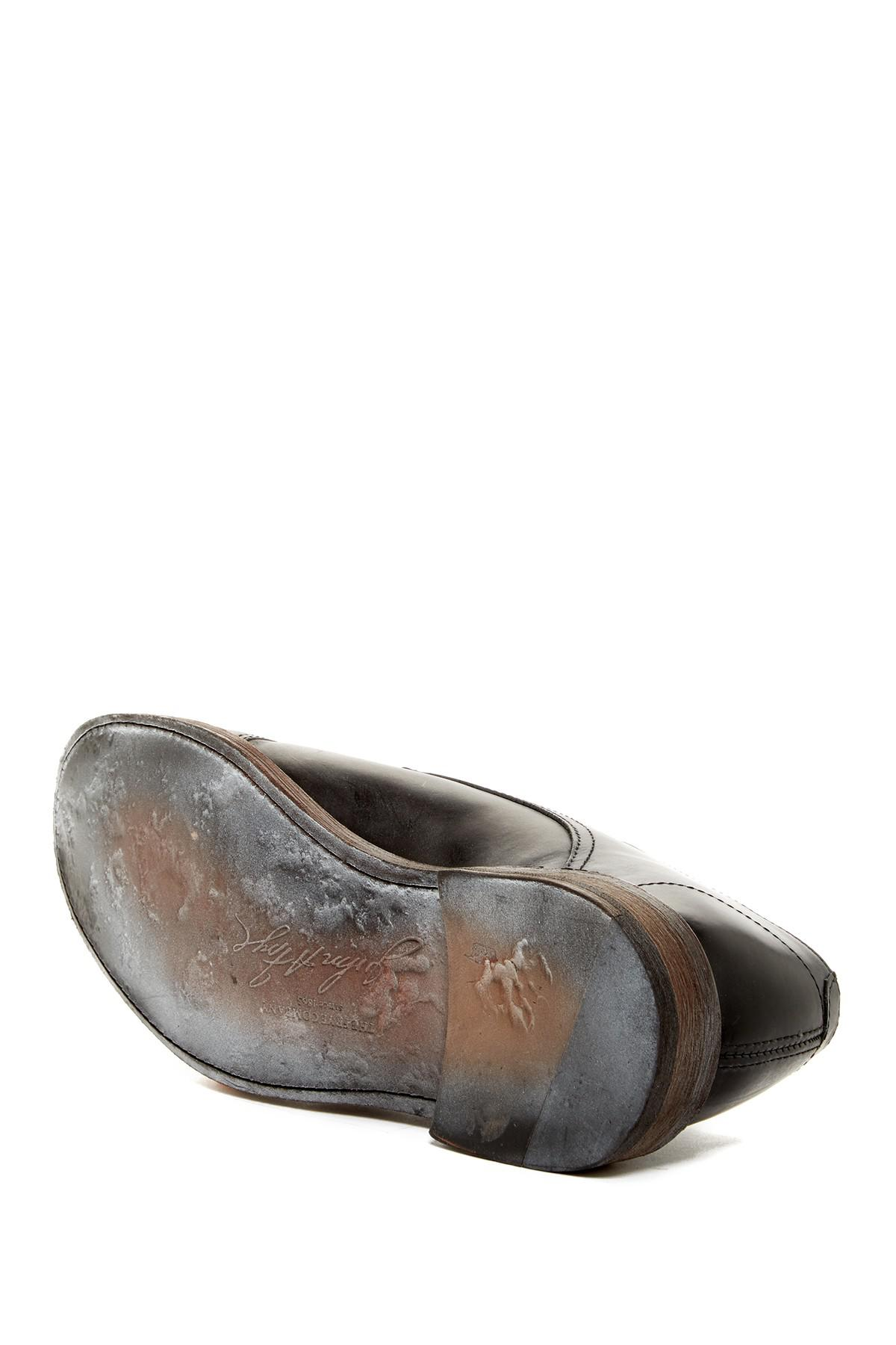 Frye Leather James Double Monk Strap Oxford In Black For