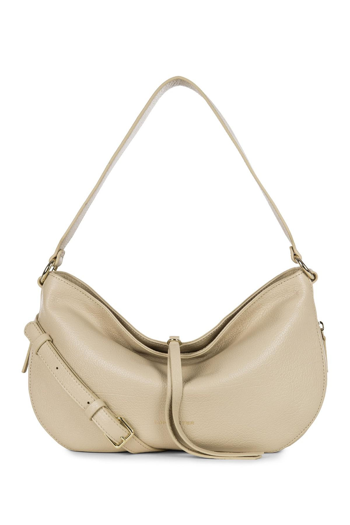 4b15f366710e Lyst - Lancaster Paris Dune Leather Hobo Crossbody in Natural