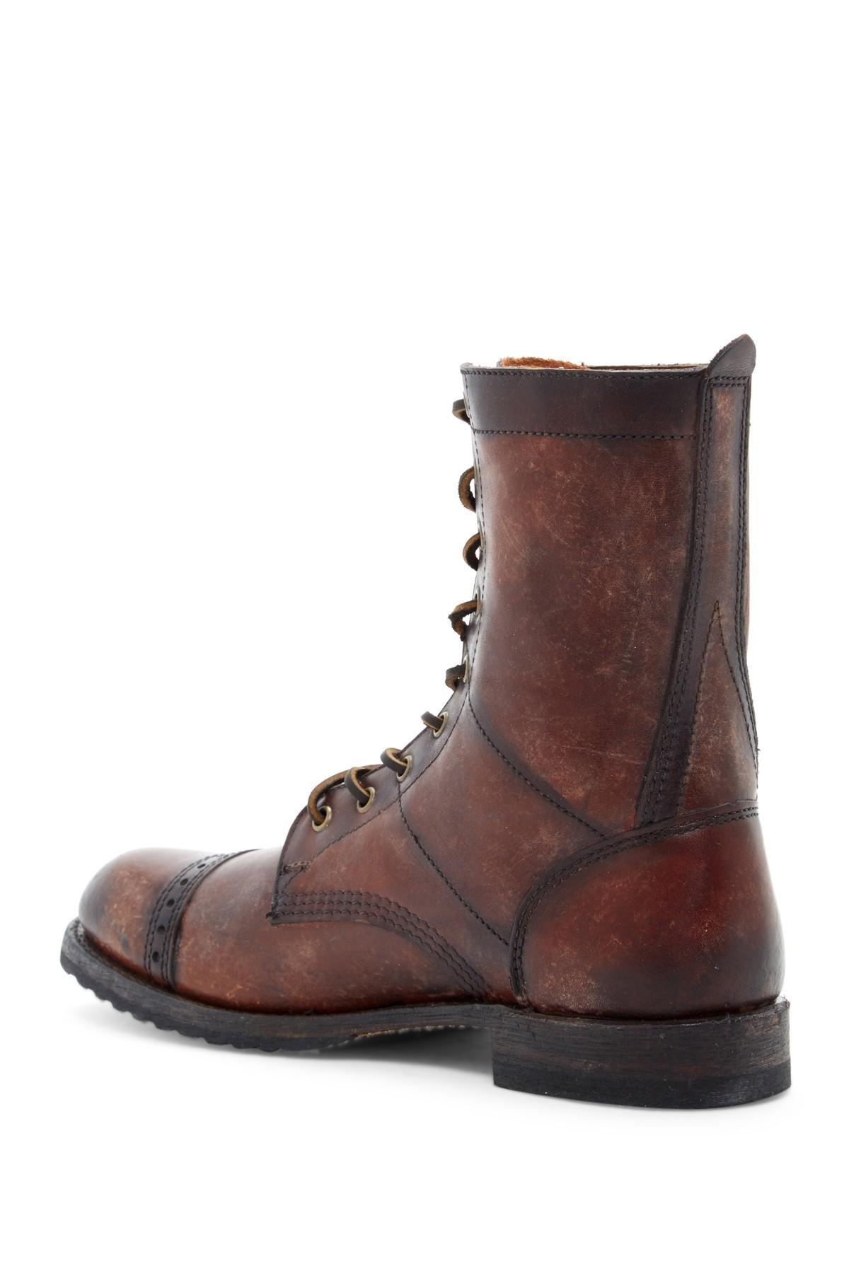 Lyst Frye Logan Jump Boot In Brown