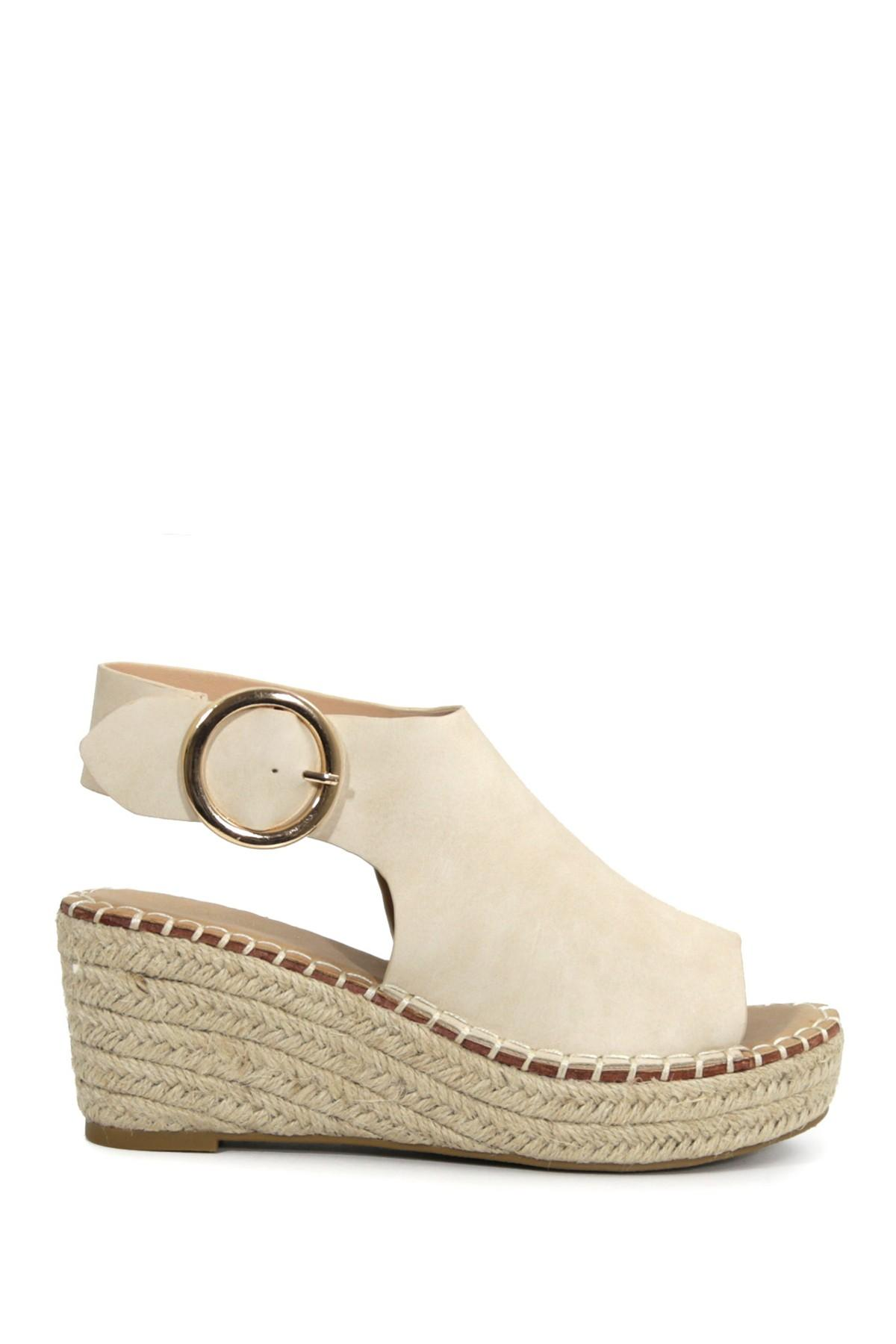 2018 sneakers utterly stylish fast delivery Catherine Malandrino Cirkly Espadrille Wedge Sandal in Natural - Lyst