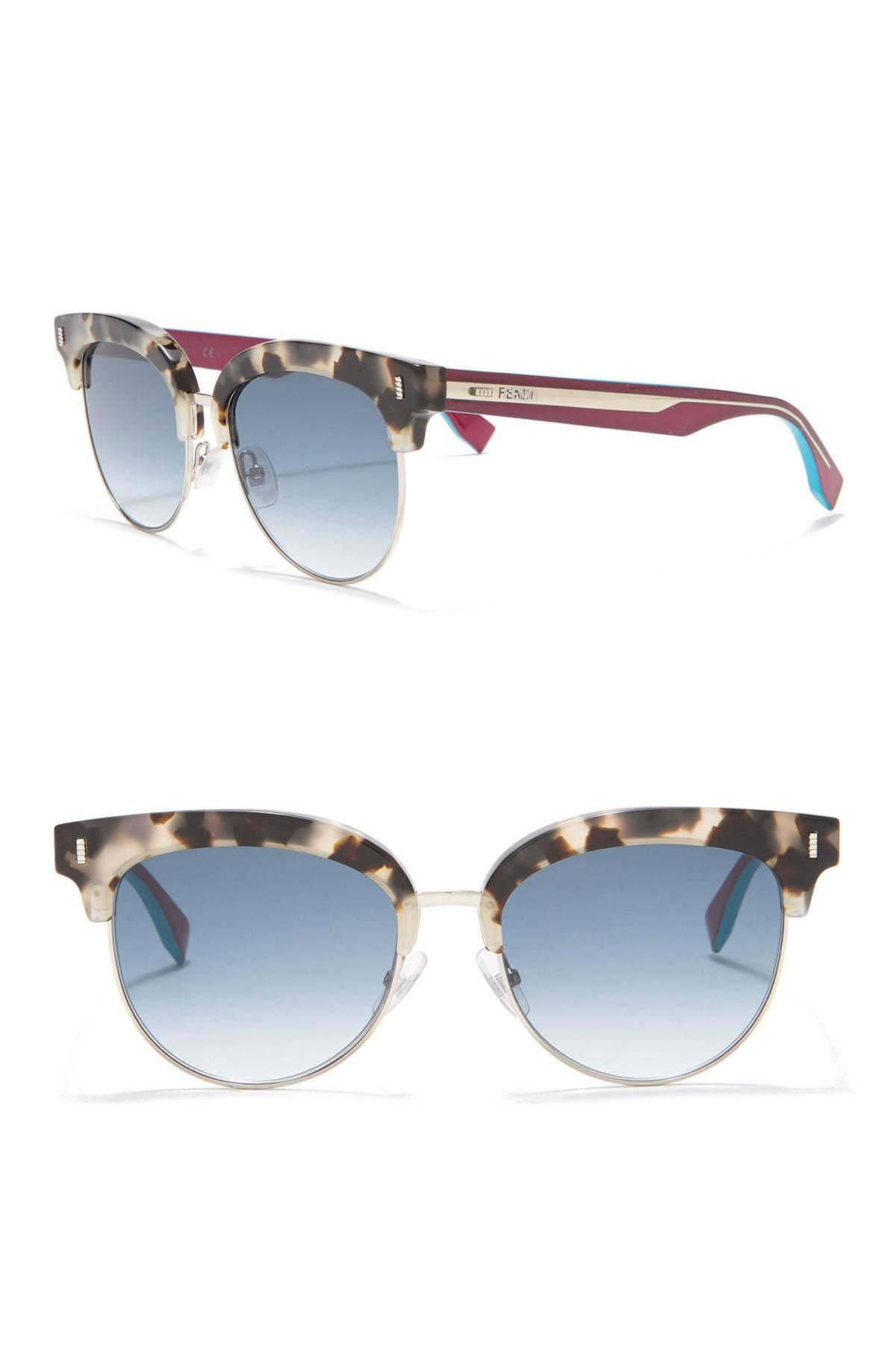 03cba4614b Fendi - Blue Women s 54mm Browline Sunglasses - Lyst. View fullscreen