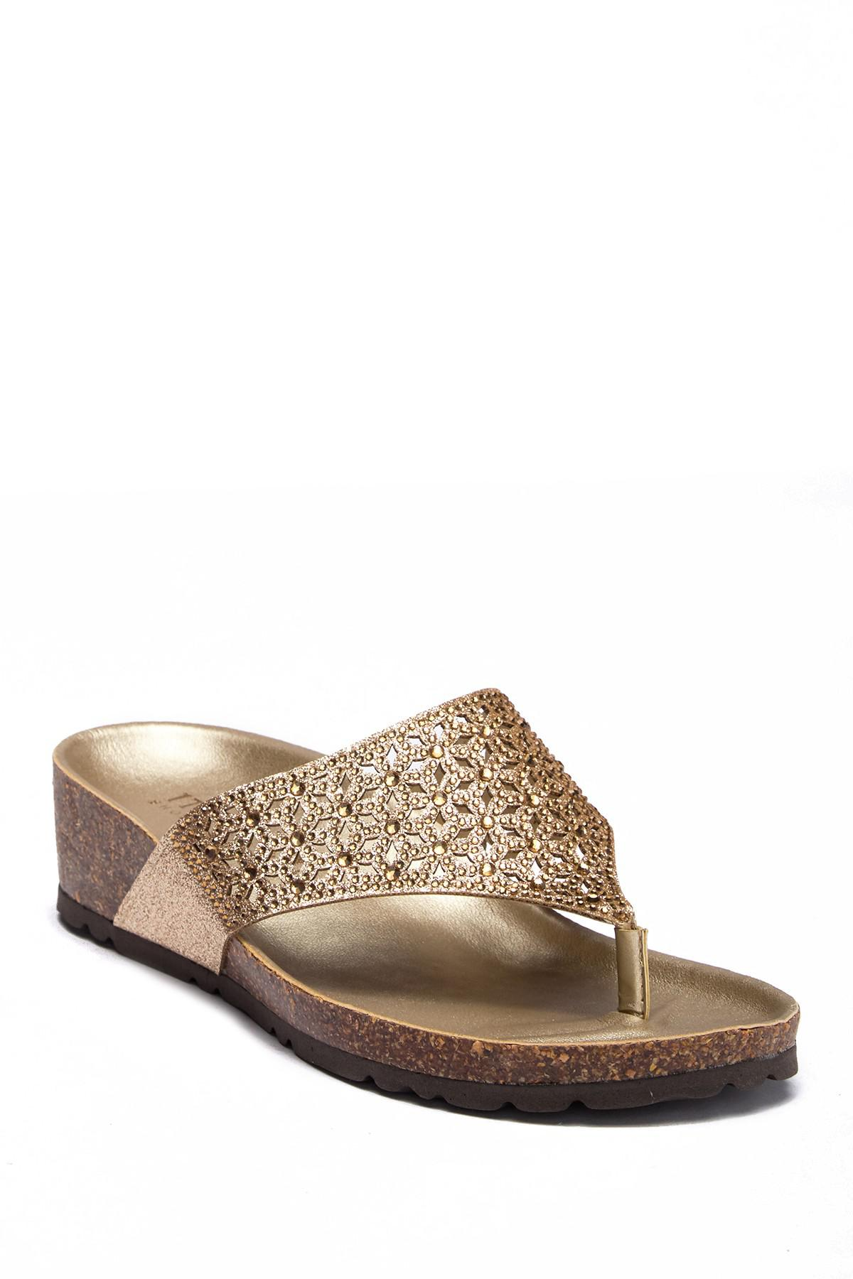 66507948a Italian Shoemakers Eloise Wedge Sandal - Lyst
