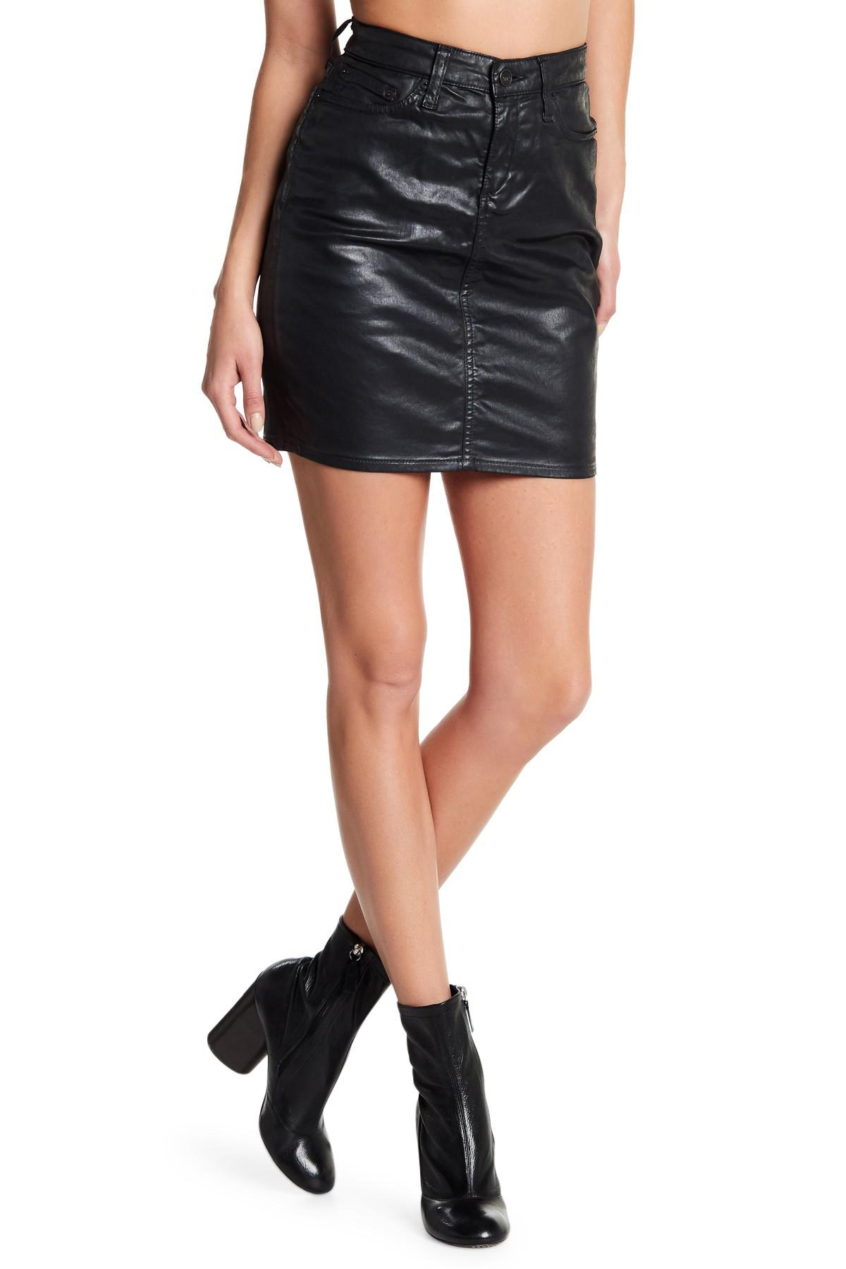 Celebrity Pink Super Skinny Stretch Mid Rise Black Waxed ...