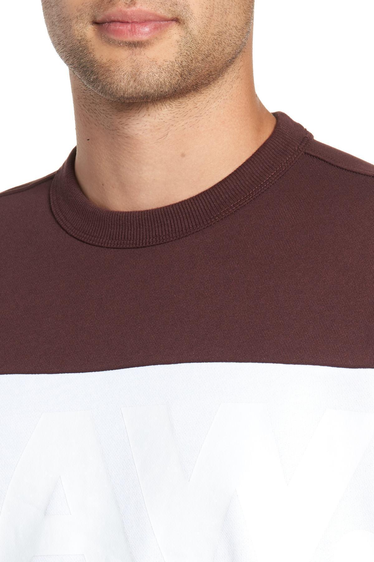 G-Star Mens Libe Core Colorblock Crewneck Sweatshirt