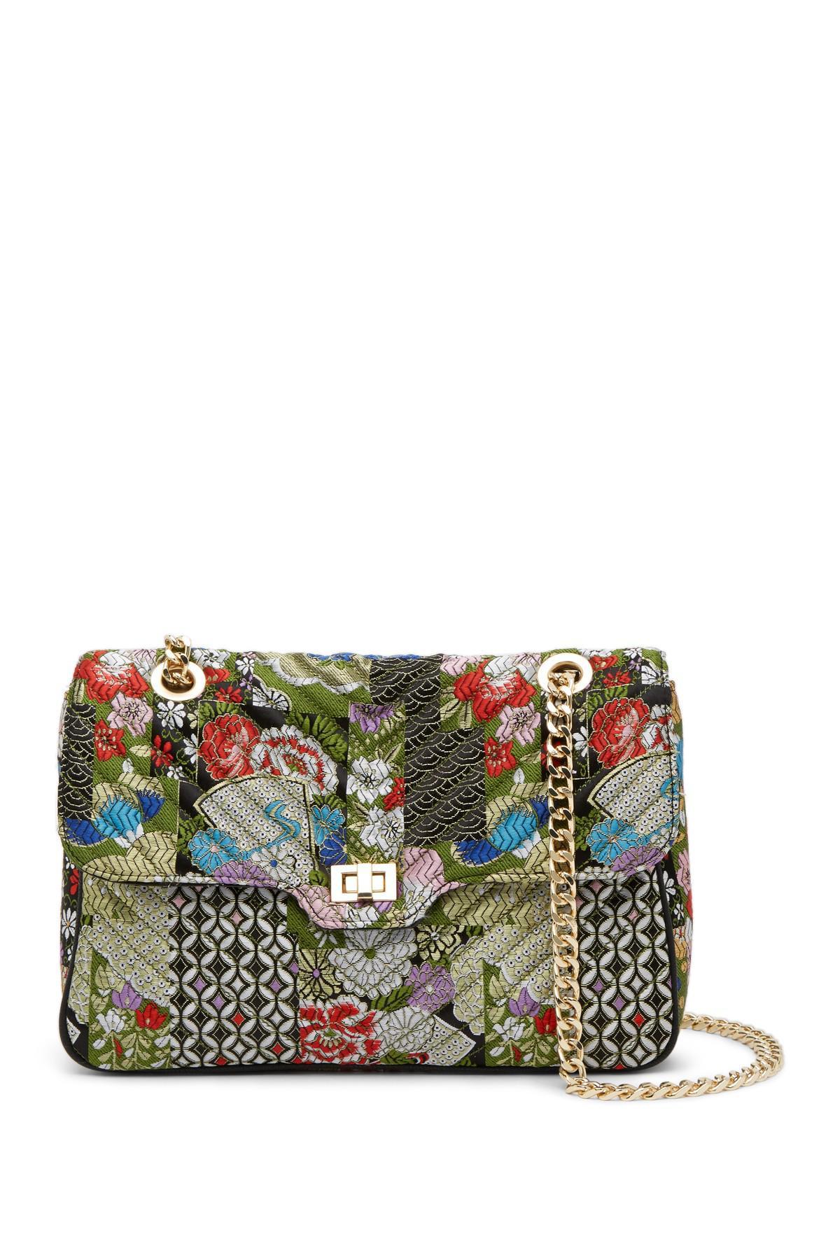 07aa42c7f28 Steve Madden Multicolor Ainsley Patchwork Brocade Convertible Shoulder Bag
