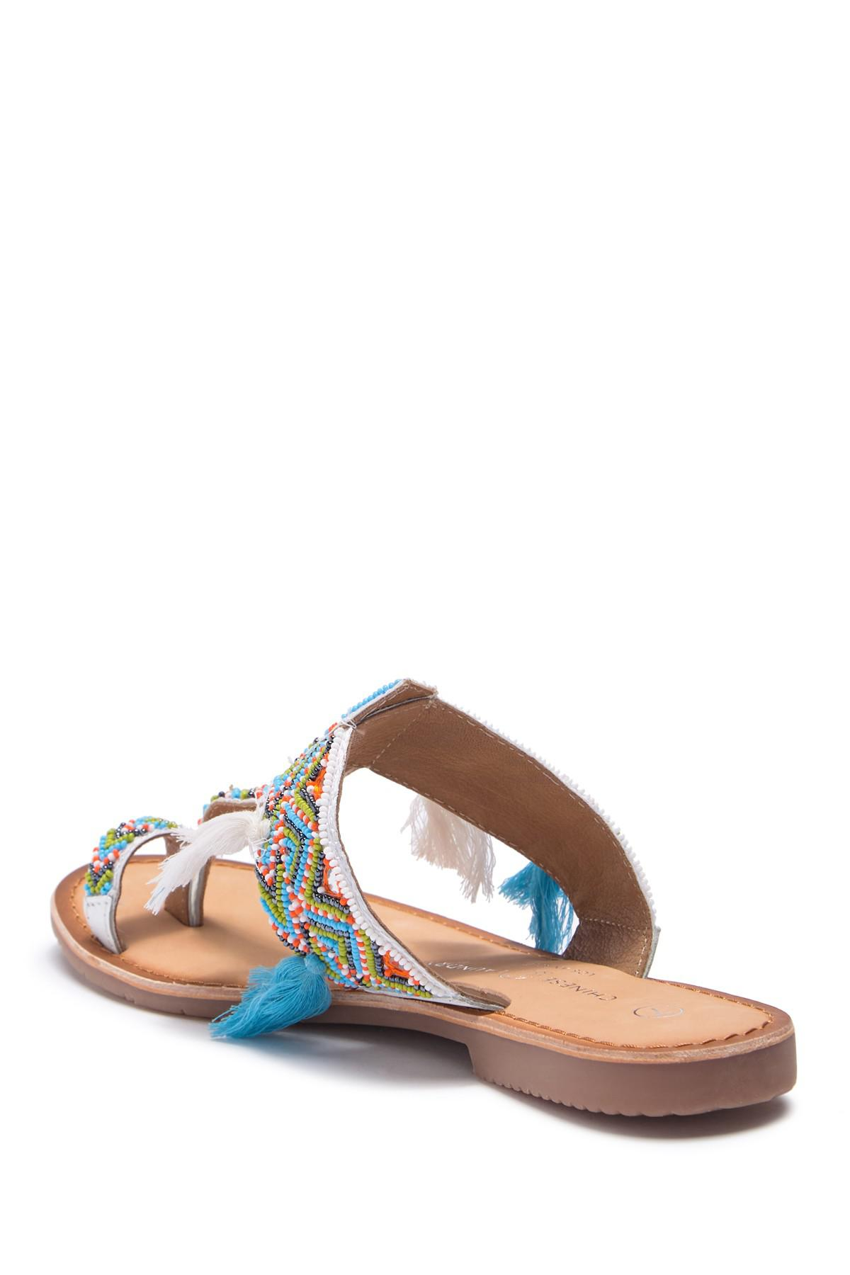 ab85ef77db49 Lyst - Chinese Laundry Paradiso Embellished Sandal in White