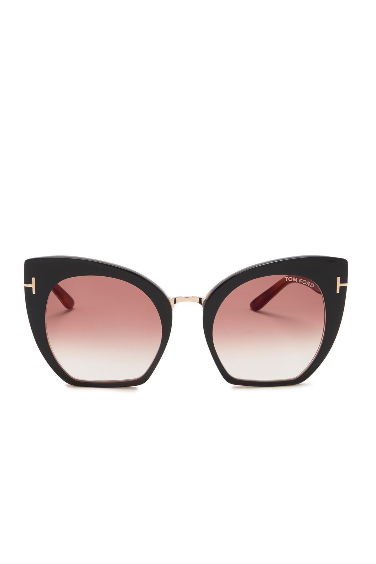 c49f0942b53 Tom Ford - Multicolor Samantha 55mm Modified Cat Eye Sunglasses - Lyst.  View fullscreen