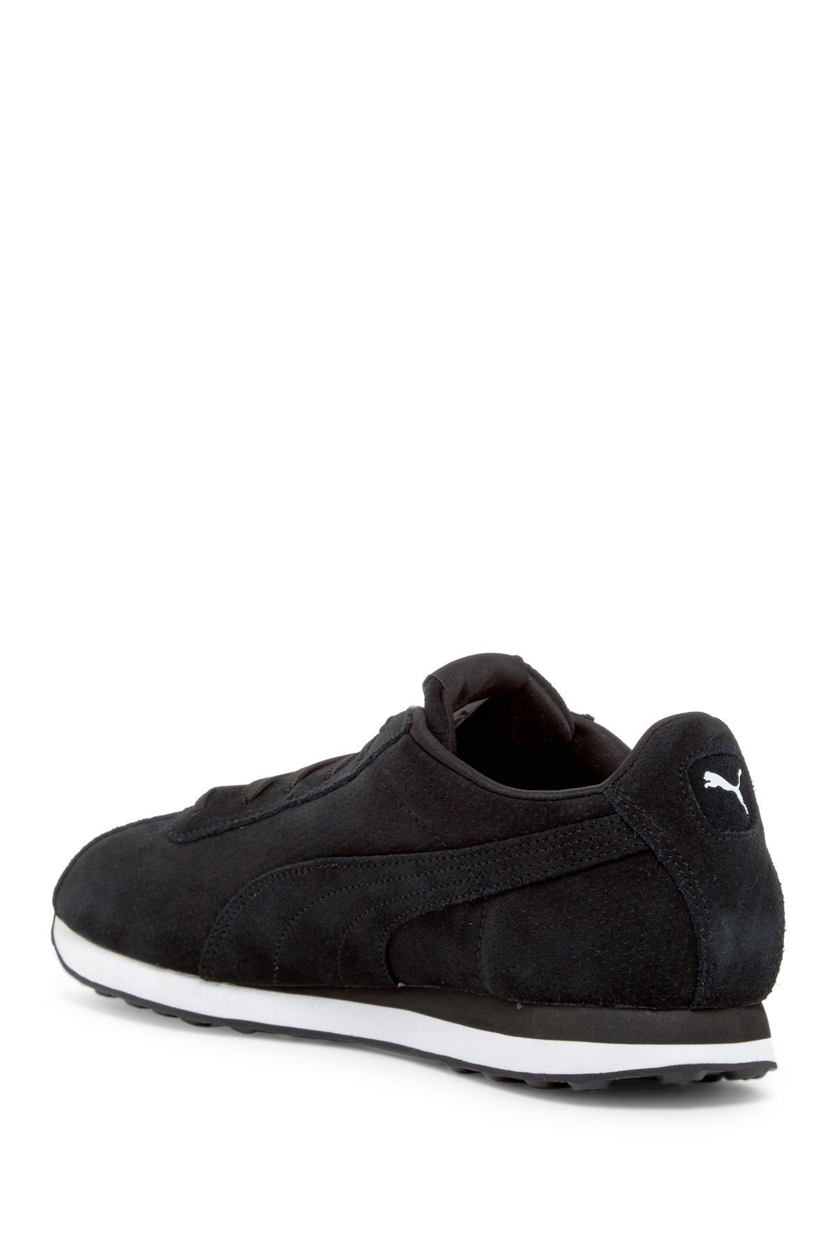 PUMA Turin Suede Sneaker in Black for