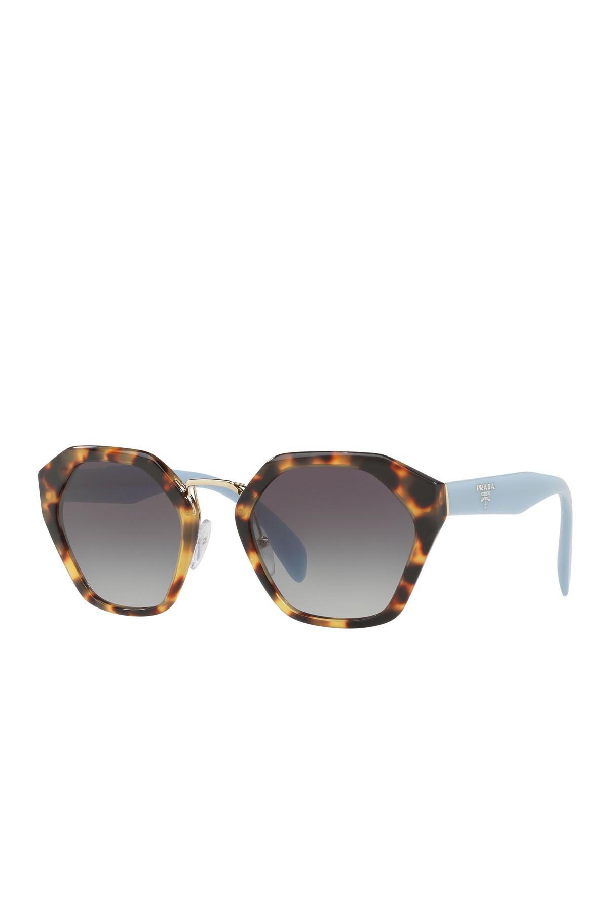 9e576d8dafd8 Prada 55mm Irregular Cat Eye Sunglasses - Lyst