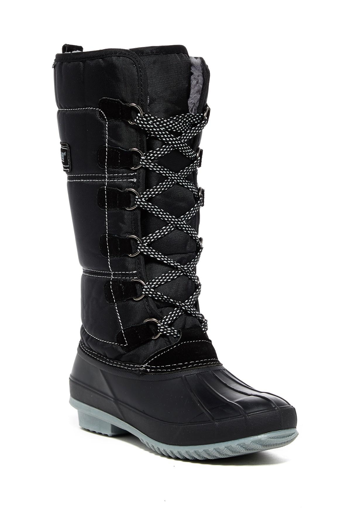 Khombu Canyon Waterproof Faux Fur Lined Boot In Black Lyst