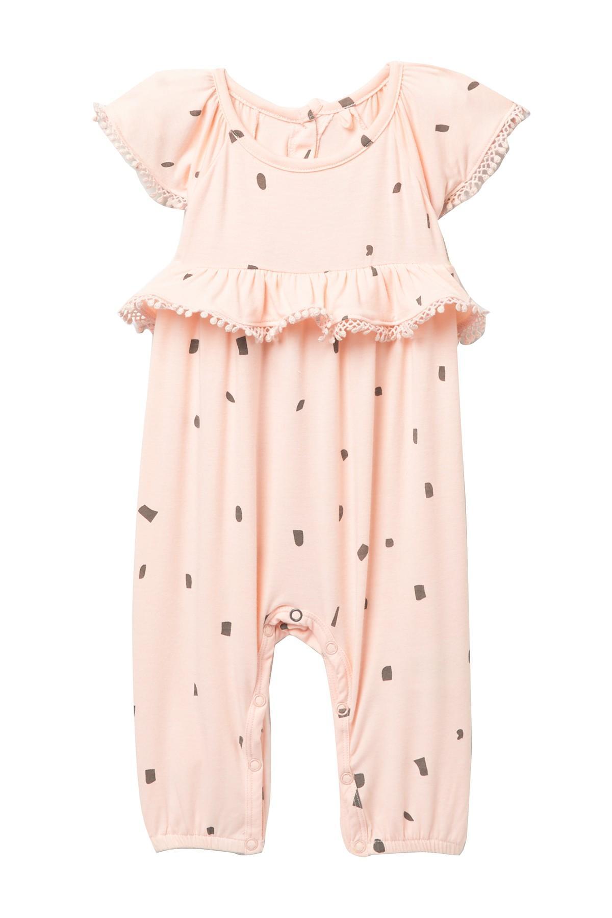 Jessica Simpson Peach Girls Medium Kitty Flared Pants Pink M