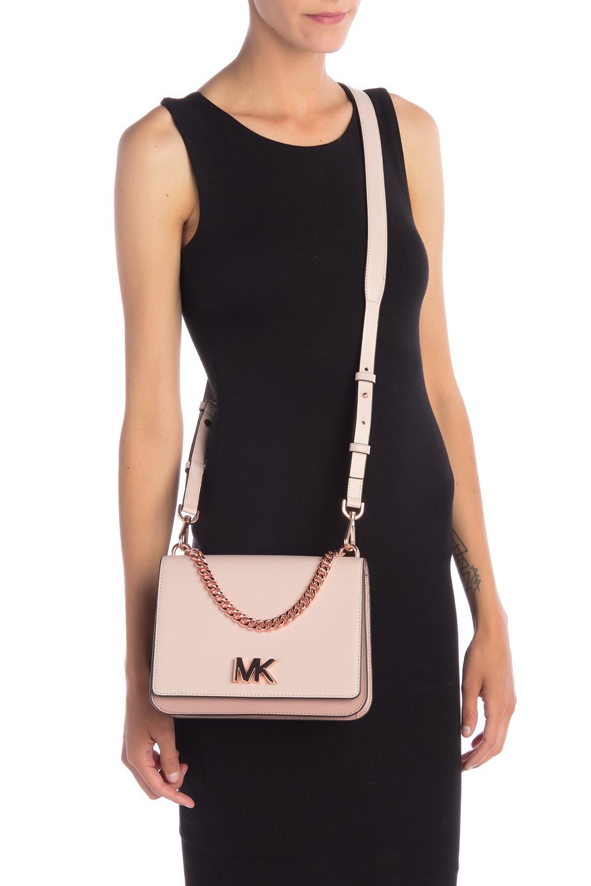 e009f4c0949caa MICHAEL Michael Kors - Pink Mott Leather Shoulder Bag - Lyst. View  fullscreen
