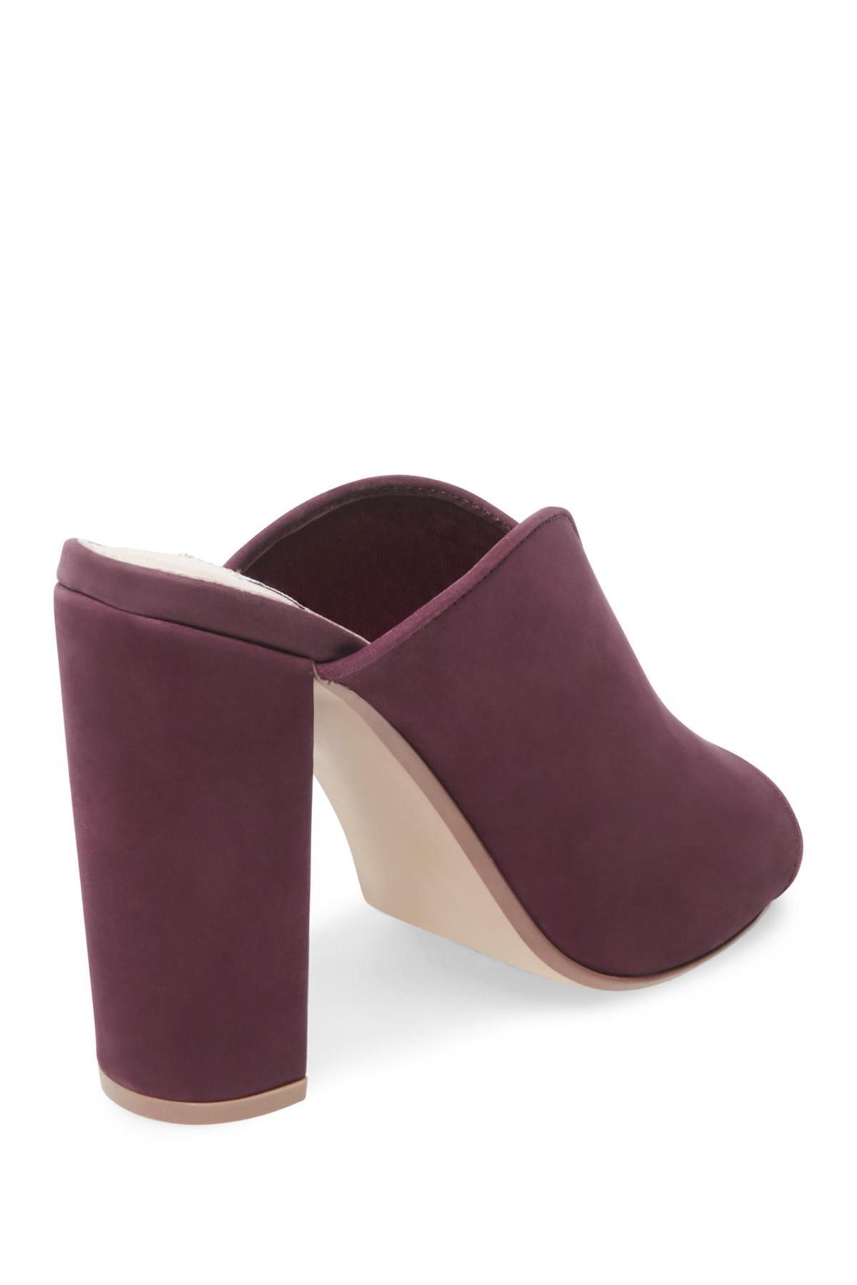 531a8fd782e Steve Madden Purple Vista Open Toe Block Heel Mule