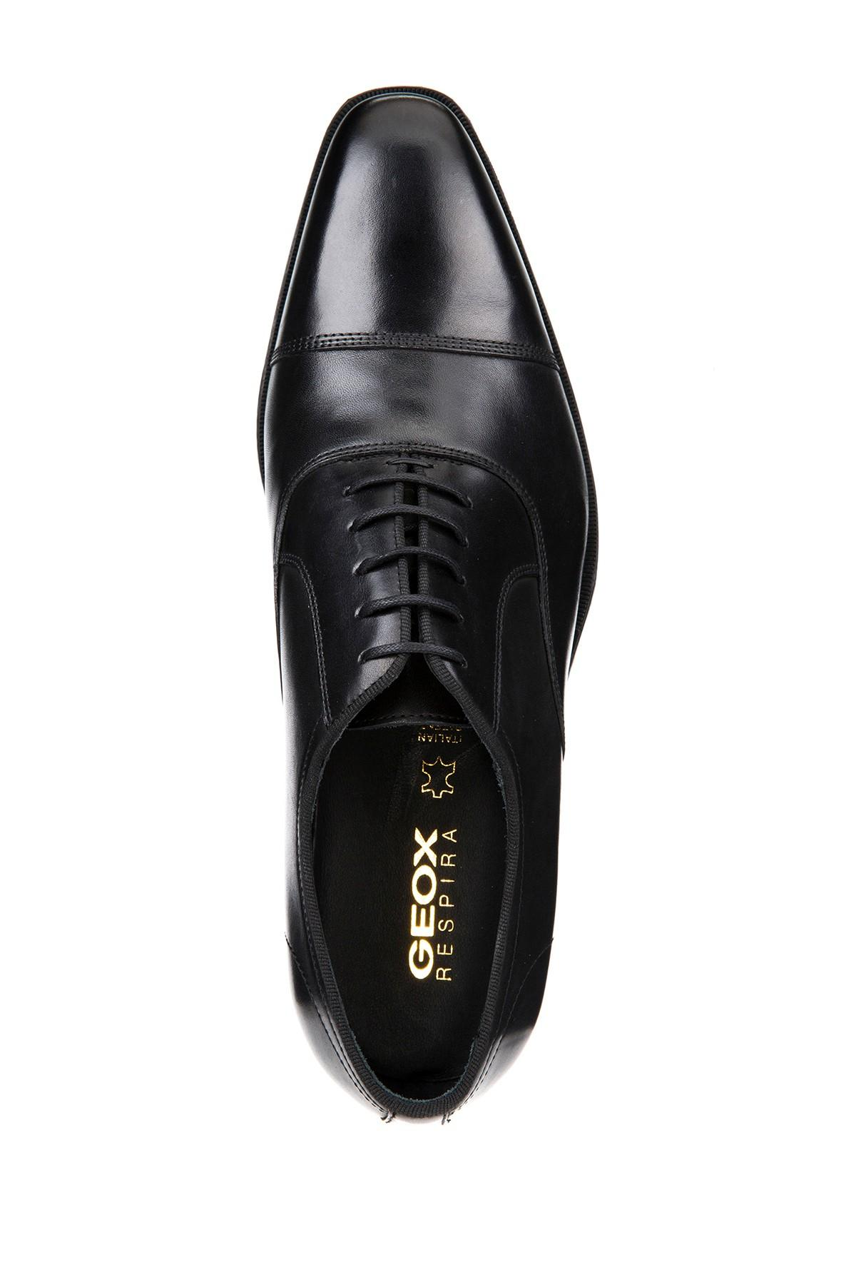 Deportes Discrepancia Incompatible  Geox Newlife Leather Oxford Dress Shoe in Black for Men - Lyst