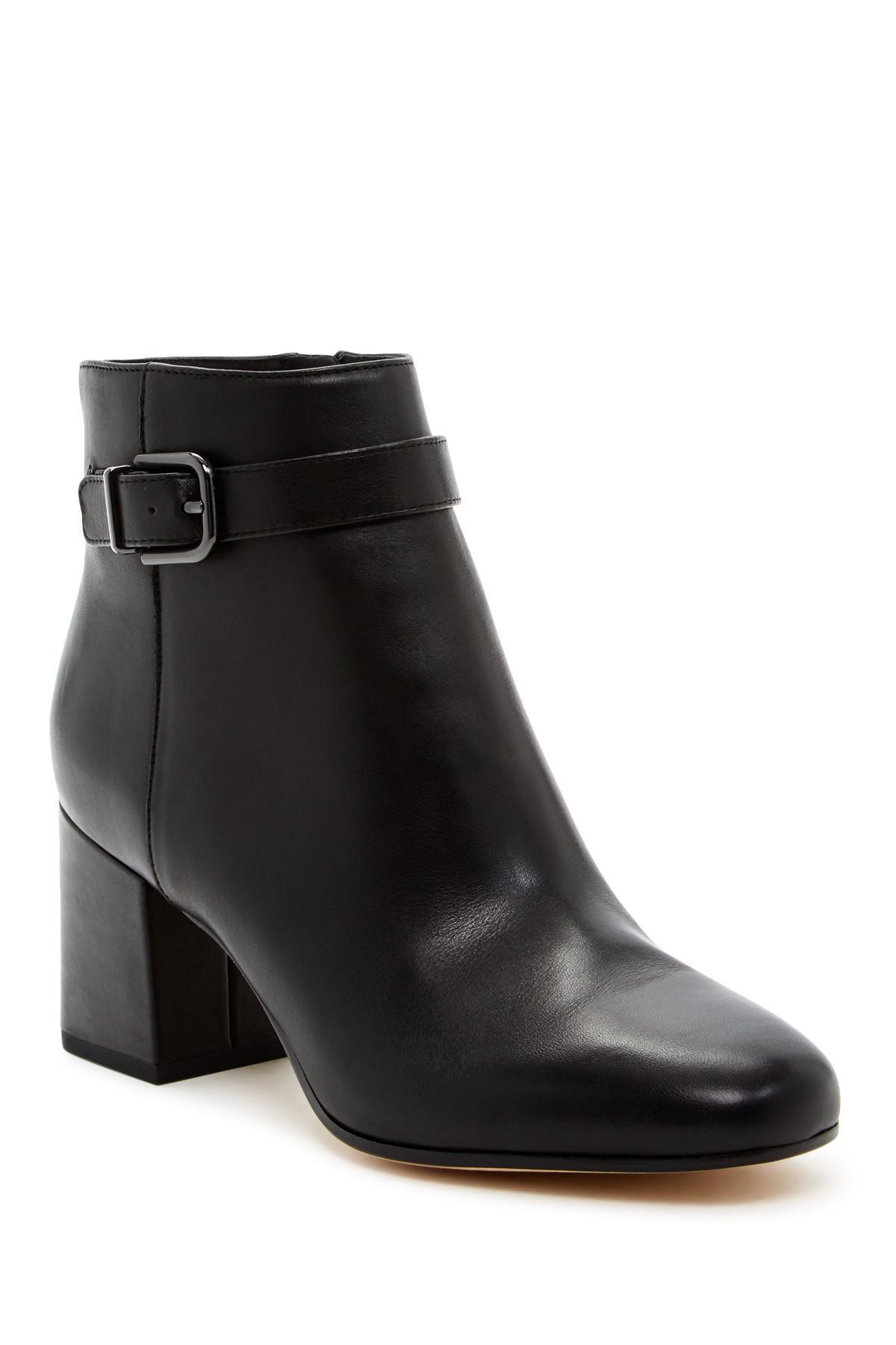 ada0821b3057 Lyst - Via Spiga Maxine Ankle Strap Bootie in Black