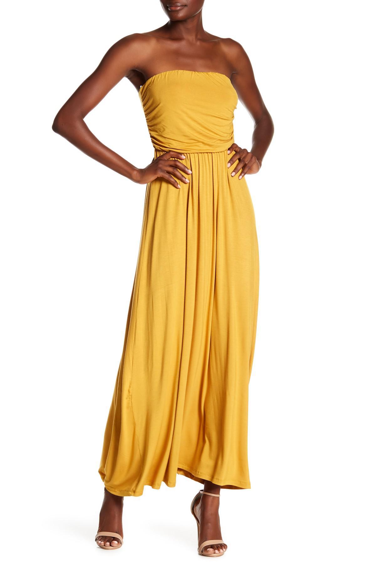 60142f8bb63 Lyst - West Kei Strapless Maxi Dress in Yellow