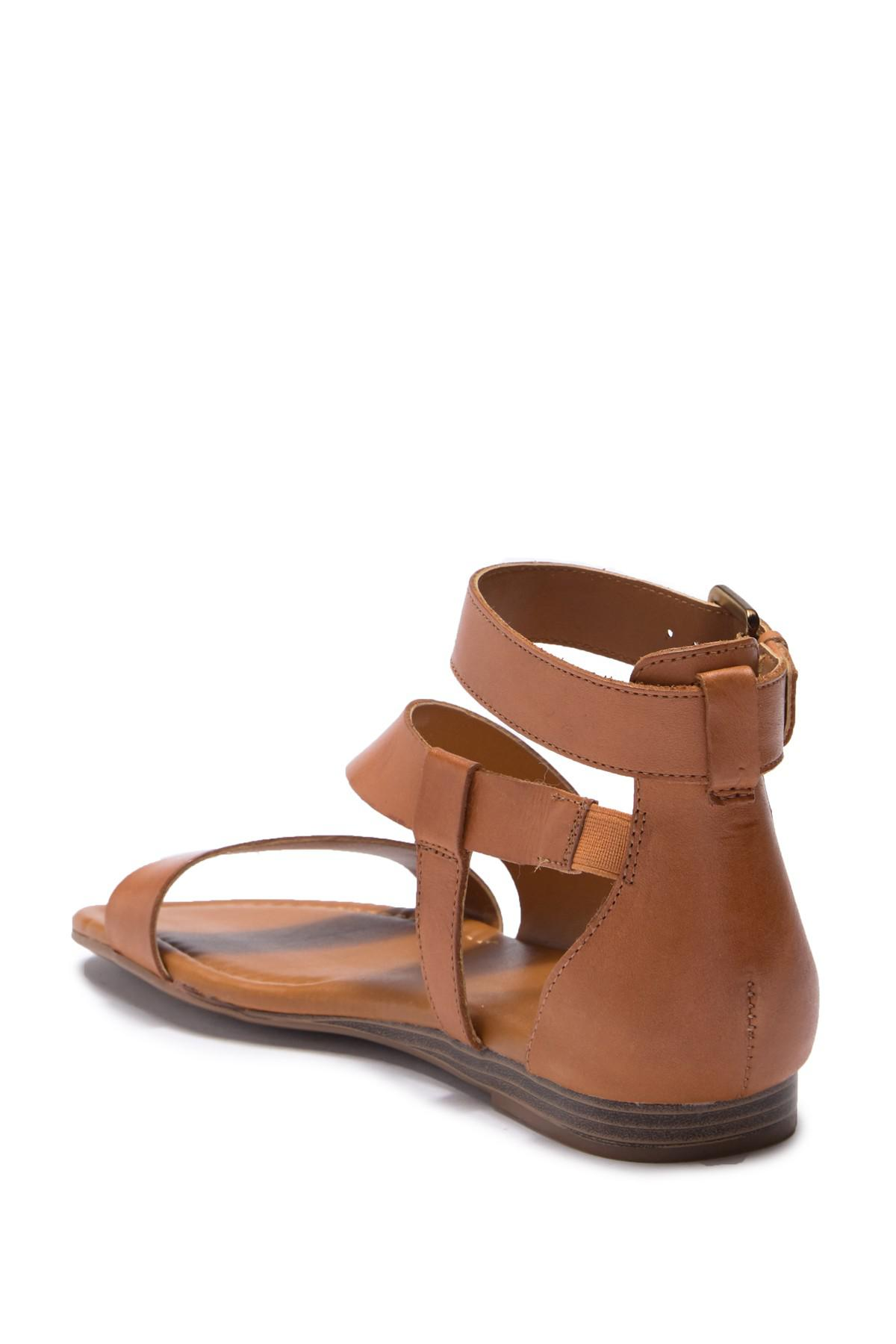 b5e86f54ec21 Franco Sarto - Brown Griffith Leather Sandal - Lyst. View fullscreen