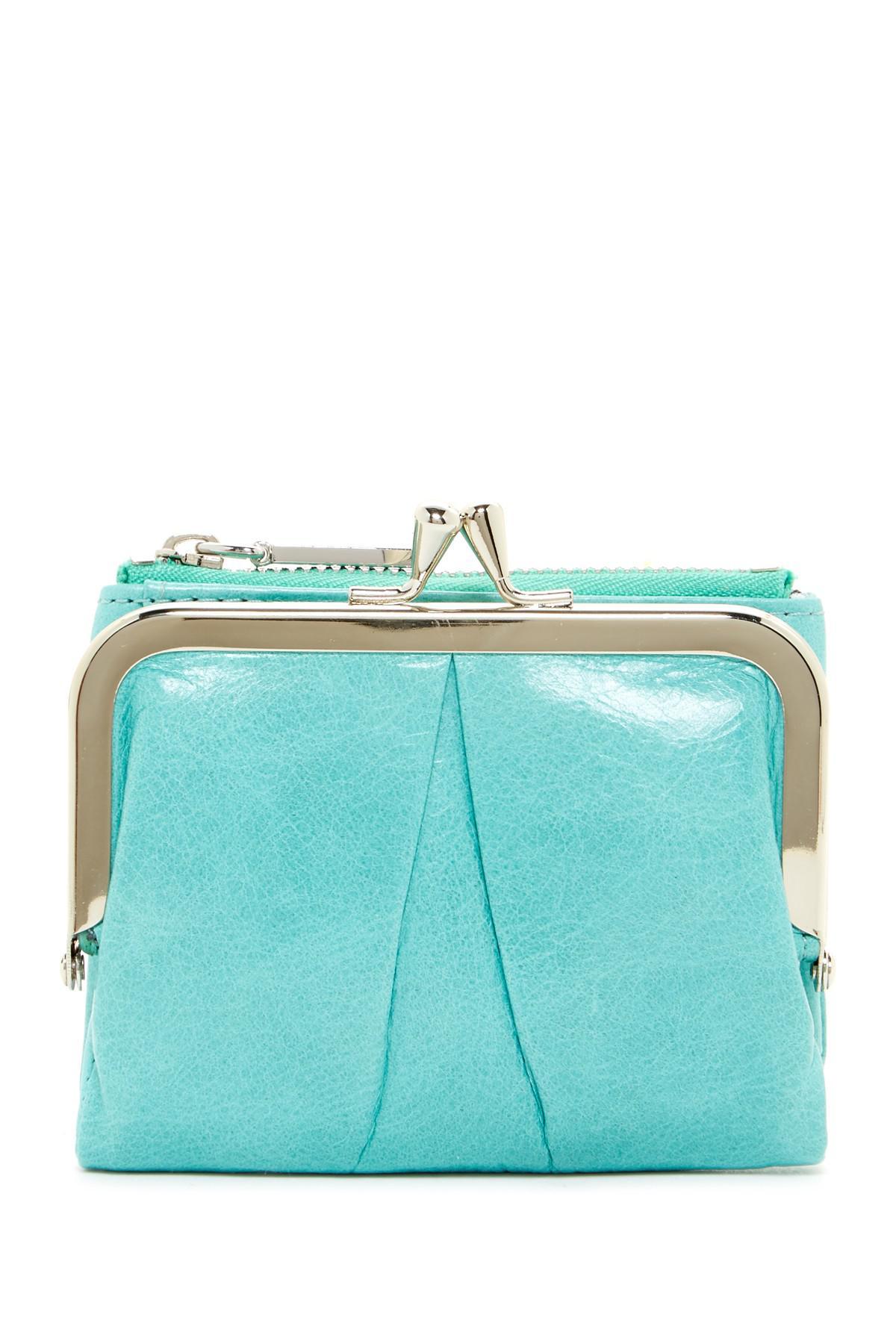 891b881be384 Lyst - Hobo Peg Leather Wallet in Blue