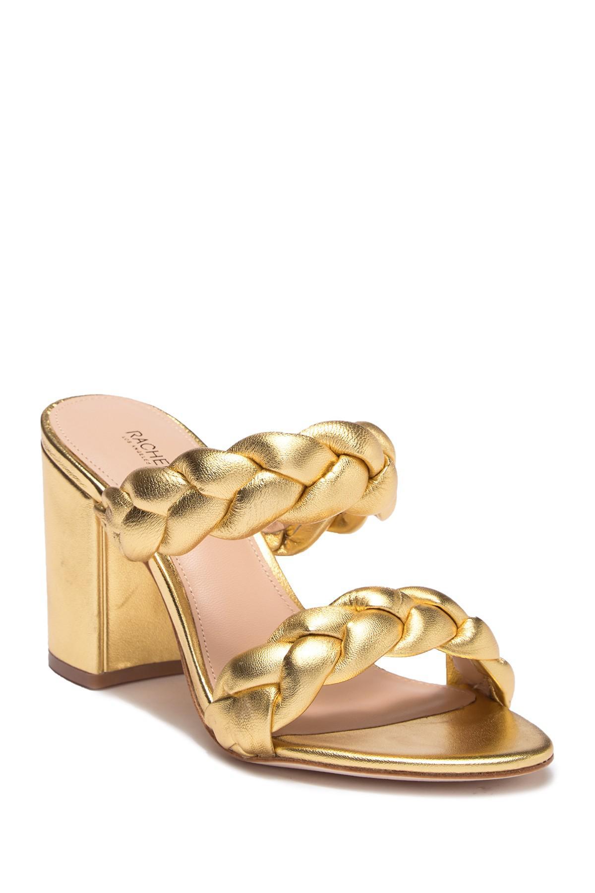 Rachel Zoe Demi Metallic Nappa Braid Sandal