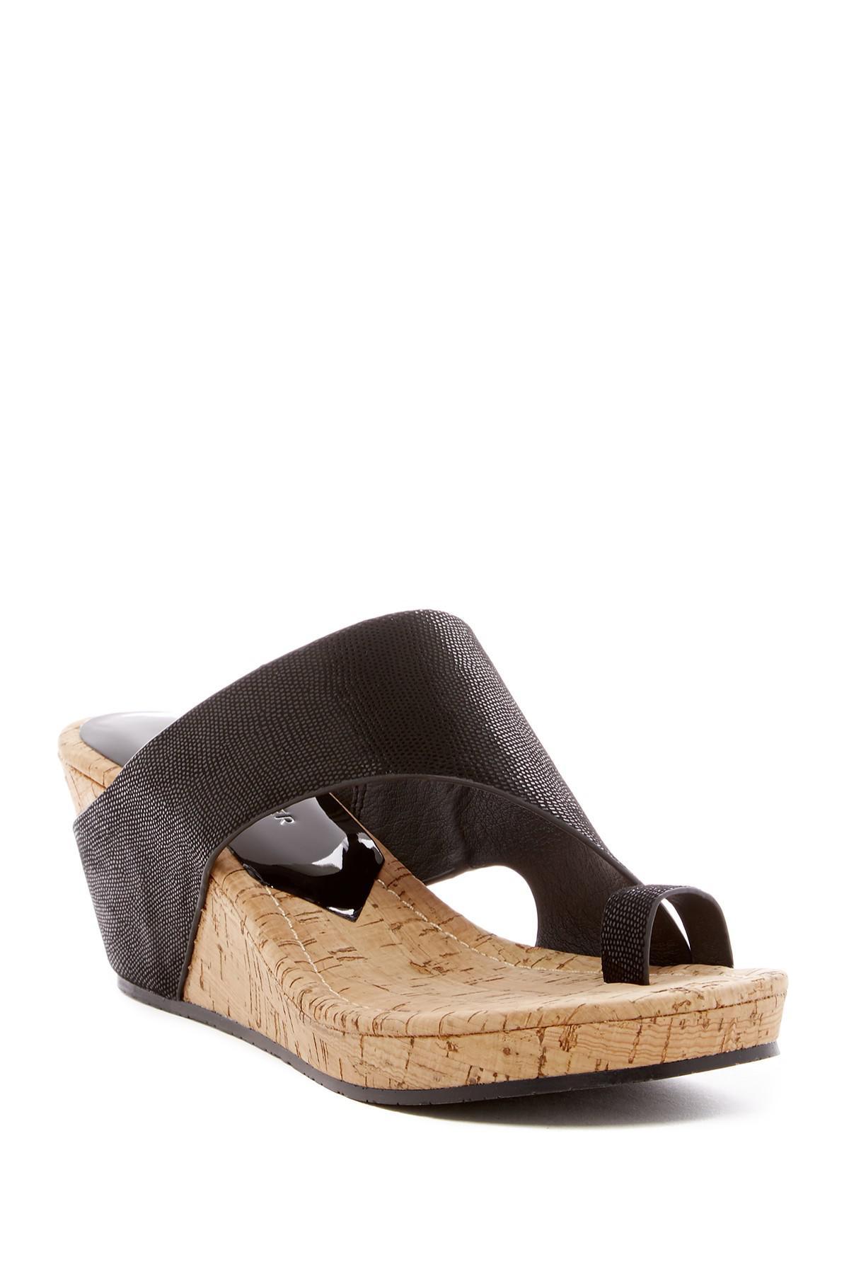 6cfef1a0bc4 Lyst - Donald J Pliner Gyer Wedge Sandal in Brown