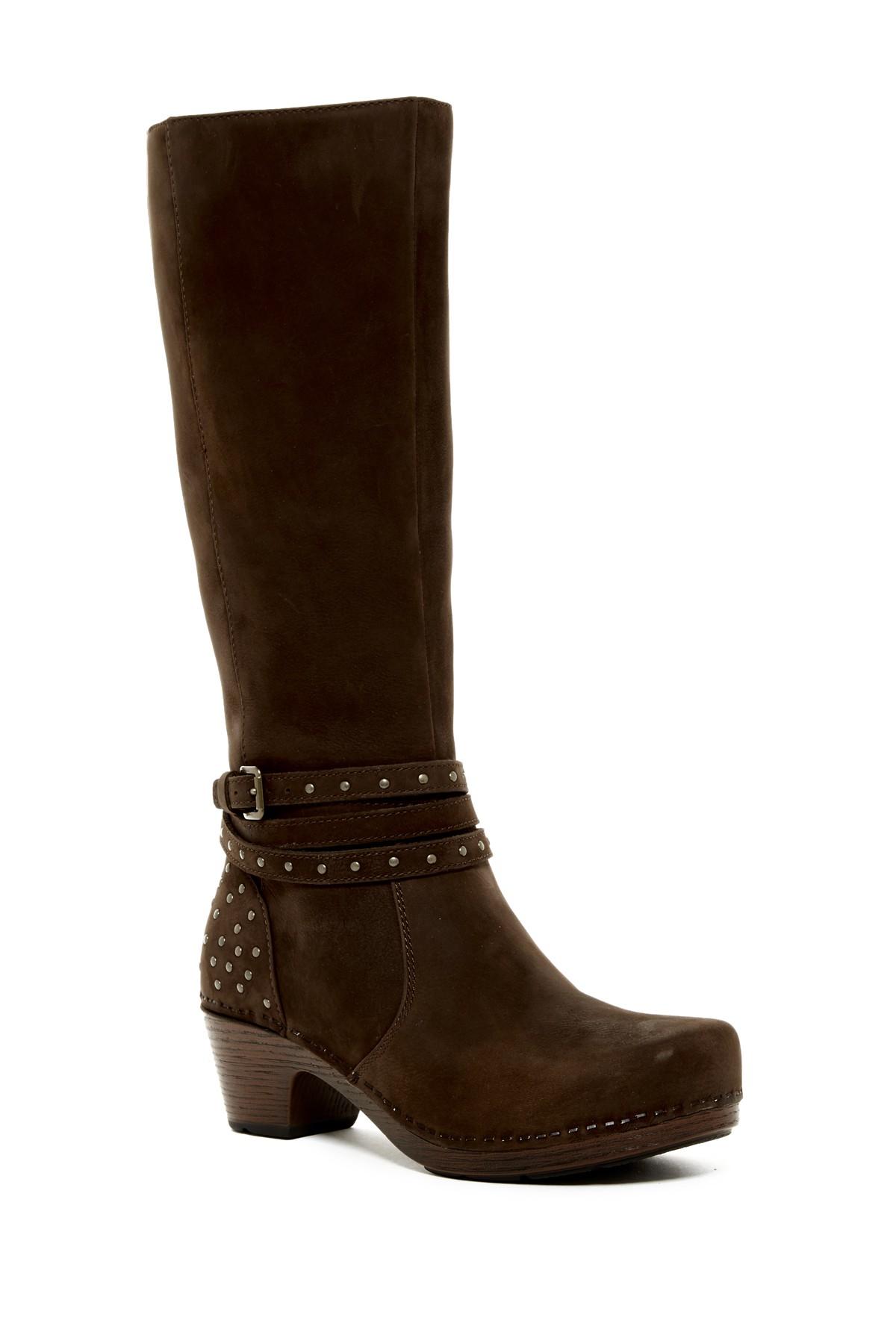 Dansko Myra Studded Tall Boot In Brown Lyst