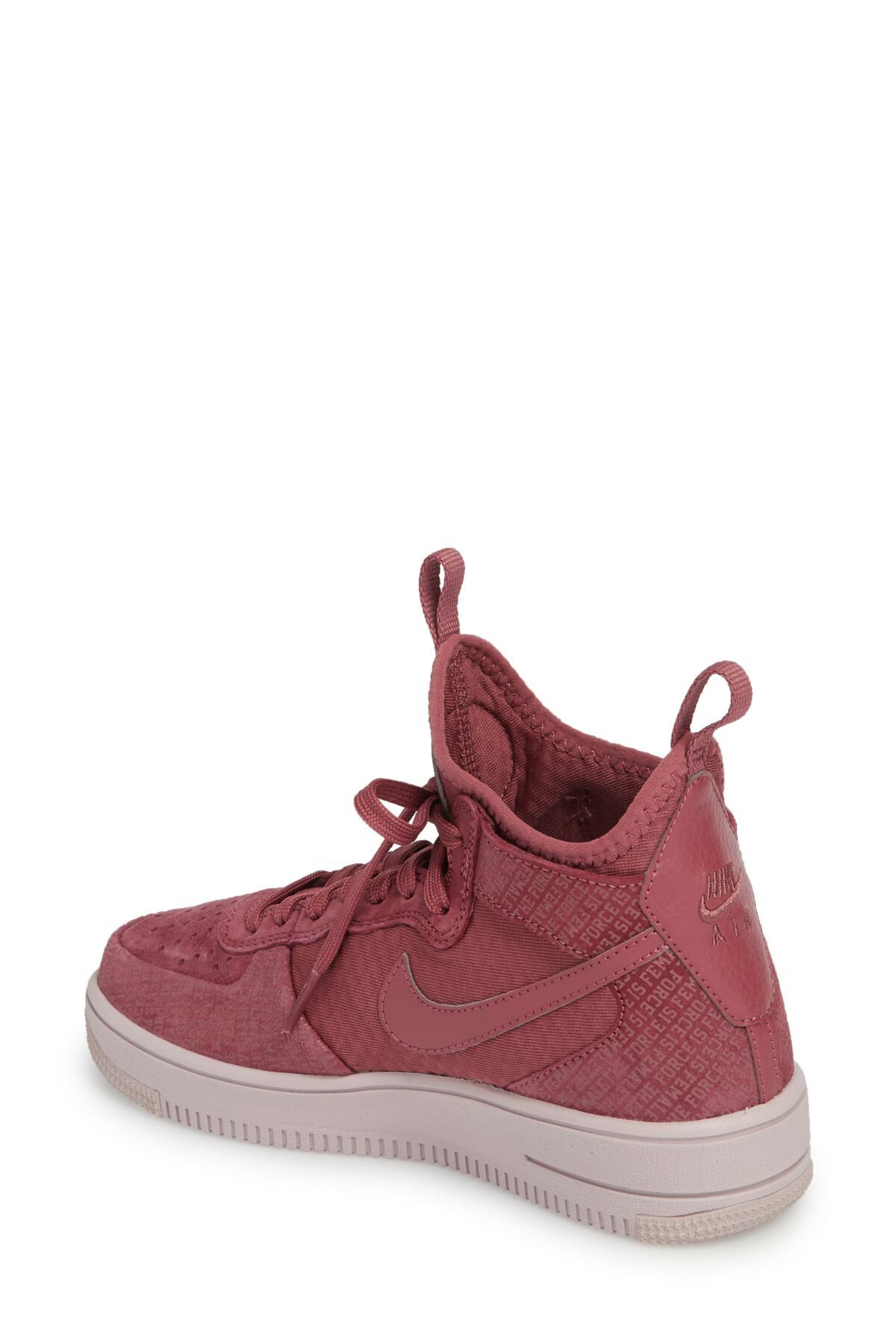 ac2cef34b Nike Air Force 1 Ultraforce Mid Fif Sneaker (women) in Red - Lyst
